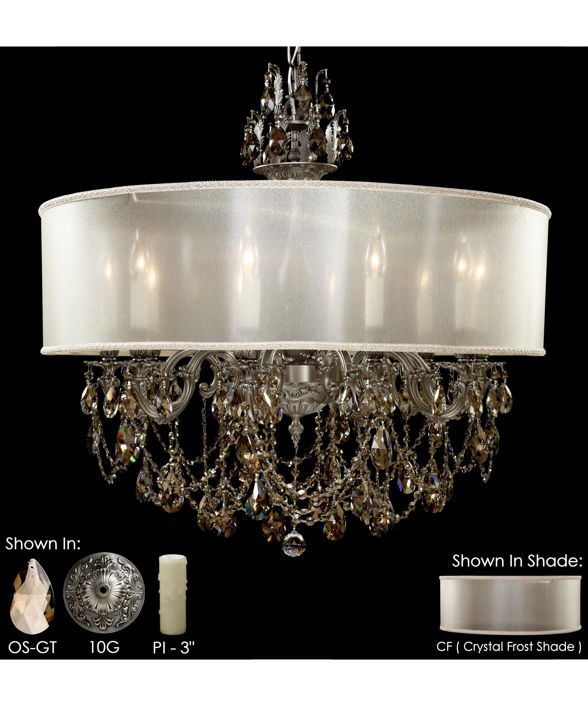American Brass and Crystal Llydia 32 Inch Wide 10 Light Chandelier – American Brass and Crystal Chandeliers
