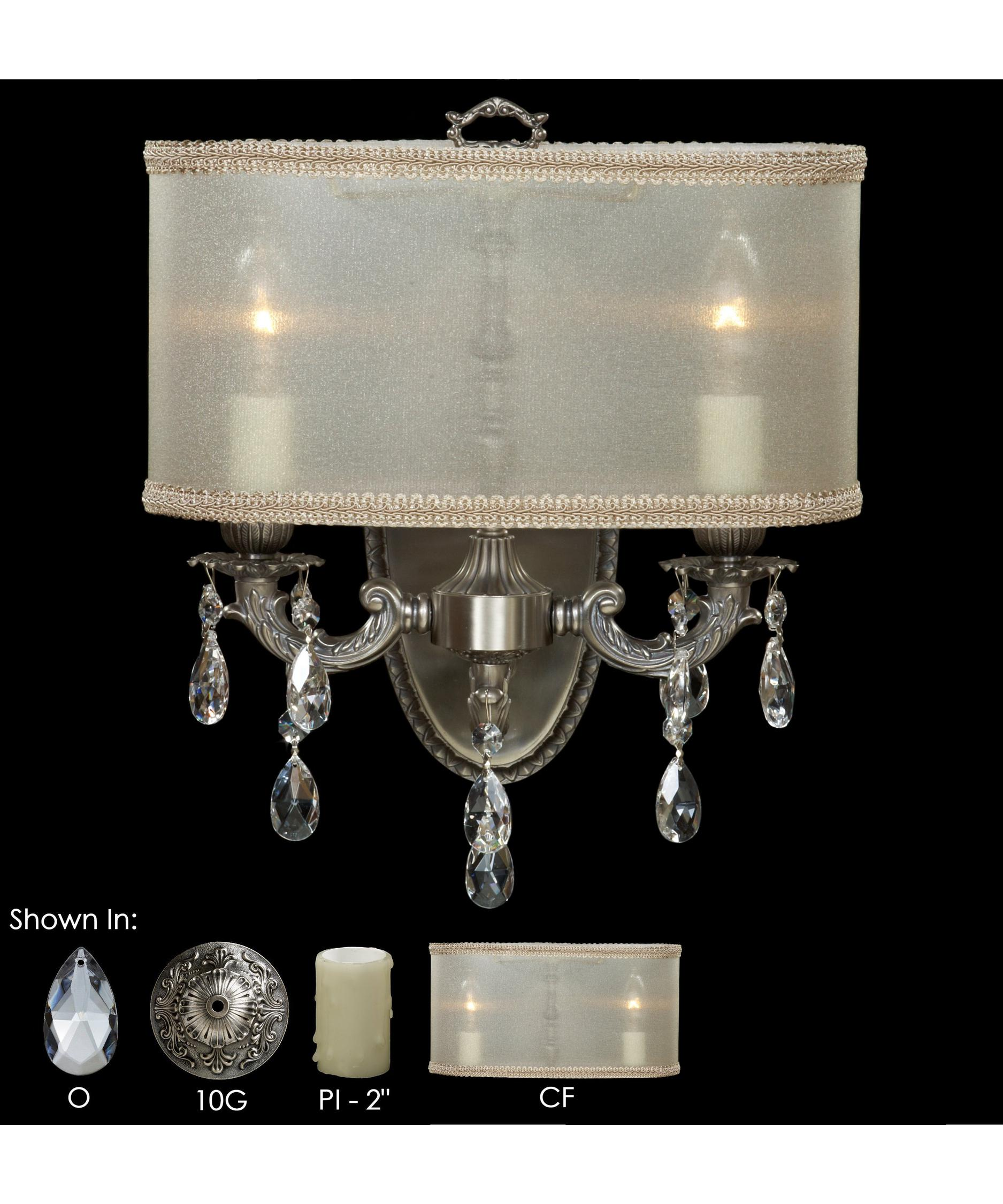 American Brass and Crystal Llydia 12 Inch Wide Wall Sconce – American Brass and Crystal Chandeliers