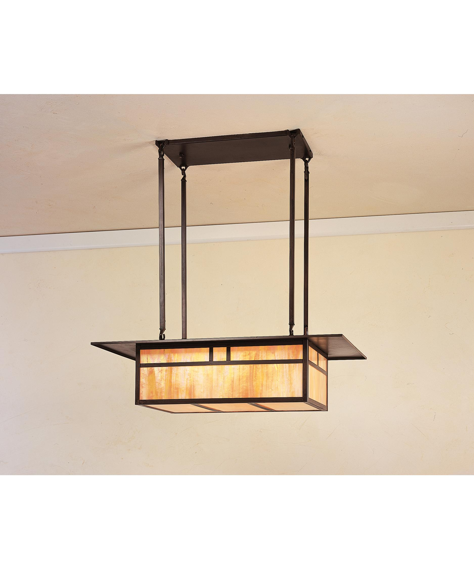 shown in bronze finish gold white iridescent glass and double t bar accent arroyo craftsman lighting