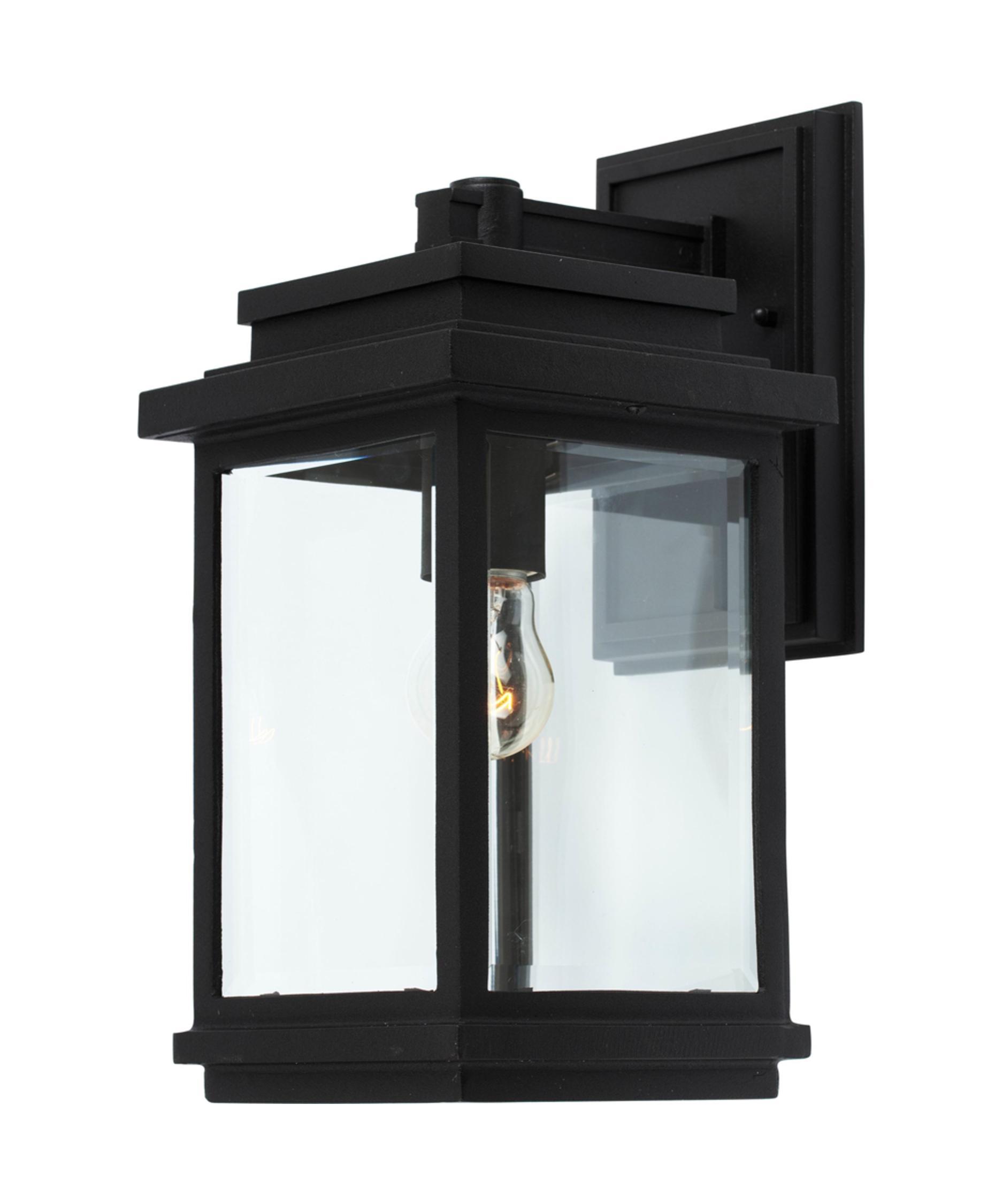 Black Outdoor Wall Light artcraft ac8290 fremont 7 inch wide 1 light outdoor wall light