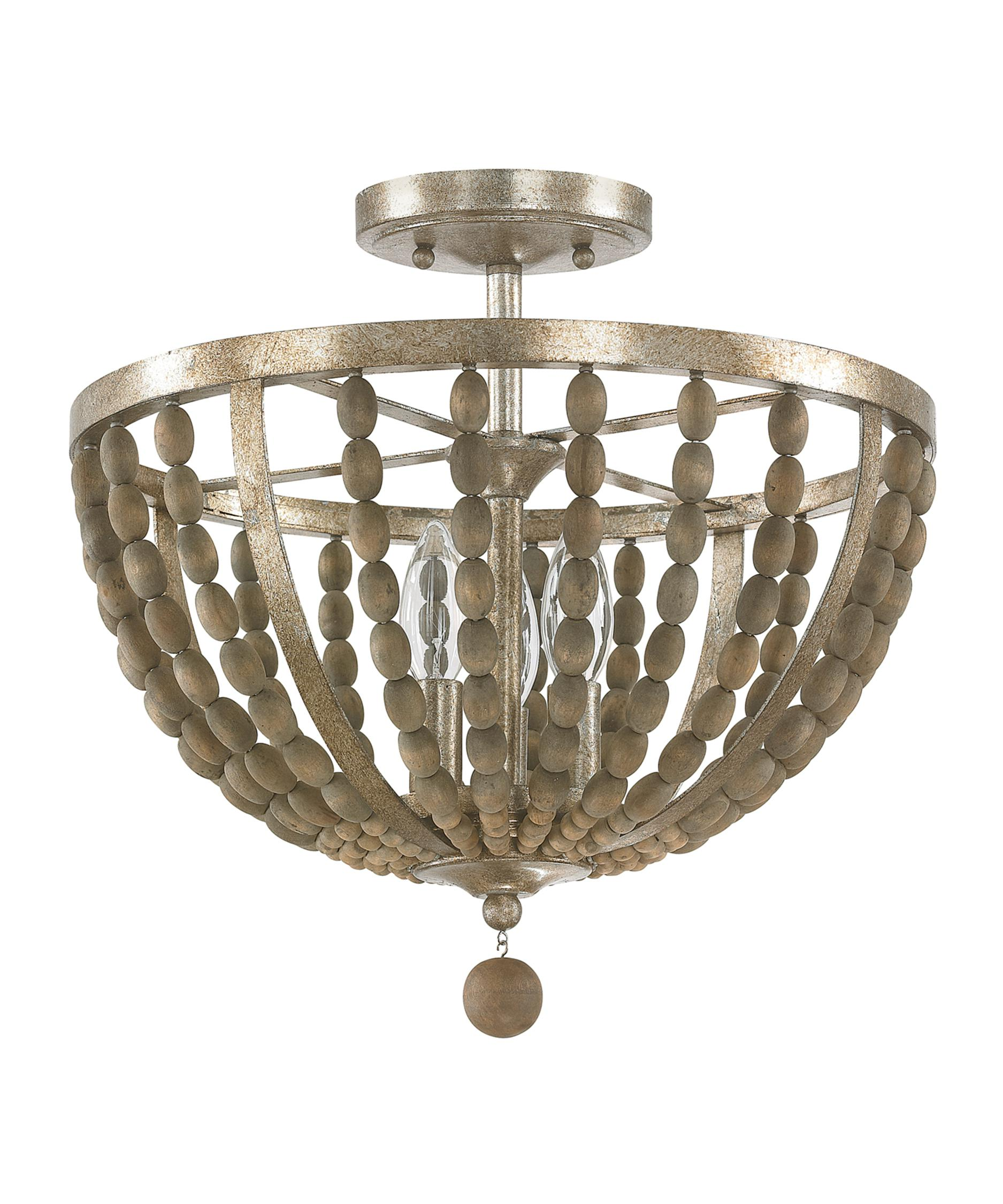 shown in tuscan bronze with wood beads finish - Capital Lighting