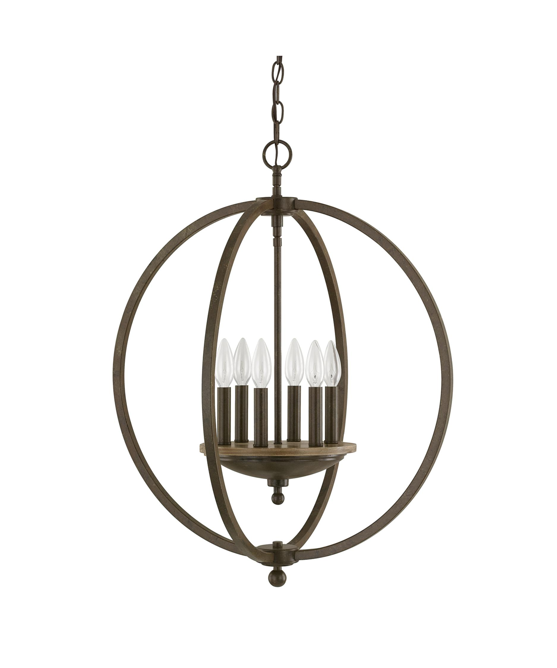 shown in bronze and oak finish - Capital Lighting