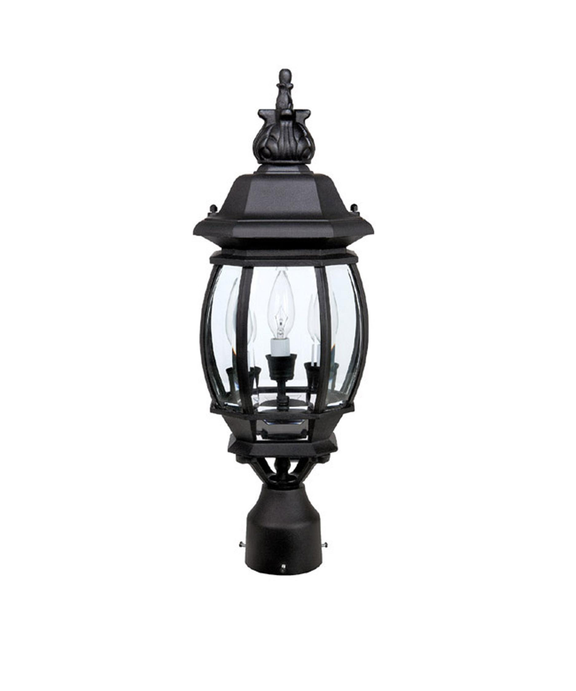 shown in black finish and clear beveled glass - Capital Lighting