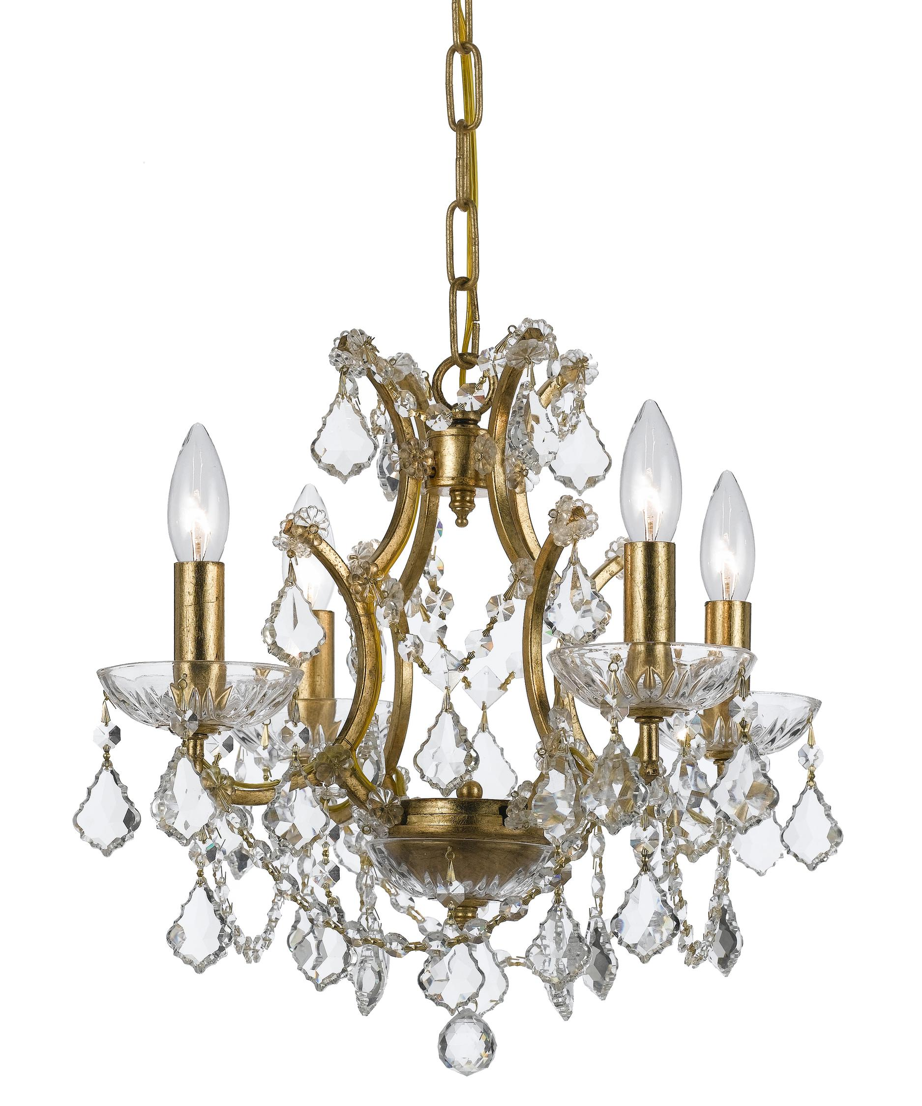 Crystorama Filmore 18 Inch Wide 4 Light Mini Chandelier – Crystorama Chandeliers