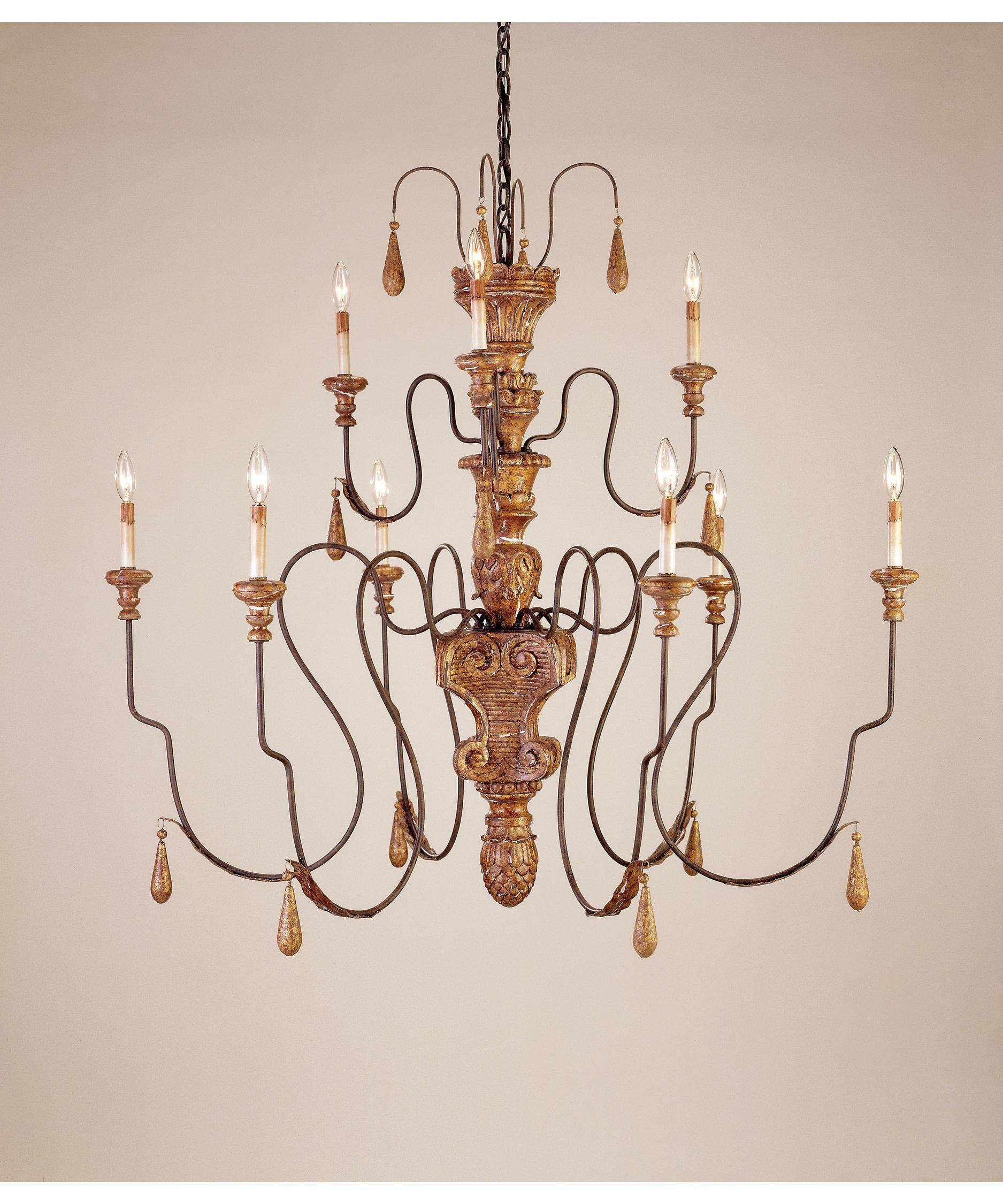 Currey and Company Mansion 48 Inch Wide 9 Light Chandelier – Currey and Company Lighting Chandeliers