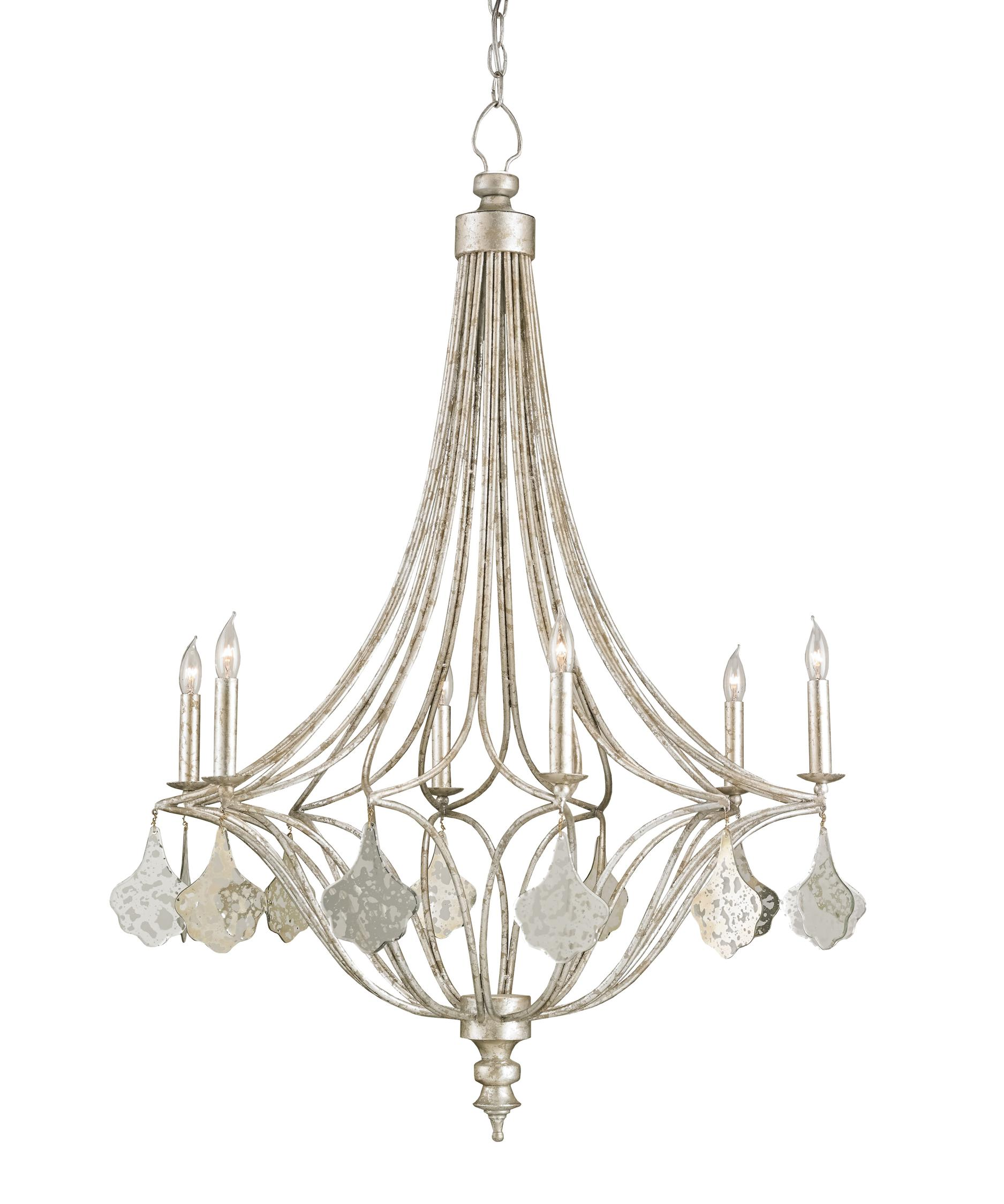Currey and Company Lavinia 30 Inch Wide 6 Light Chandelier – Currey and Company Lighting Chandeliers