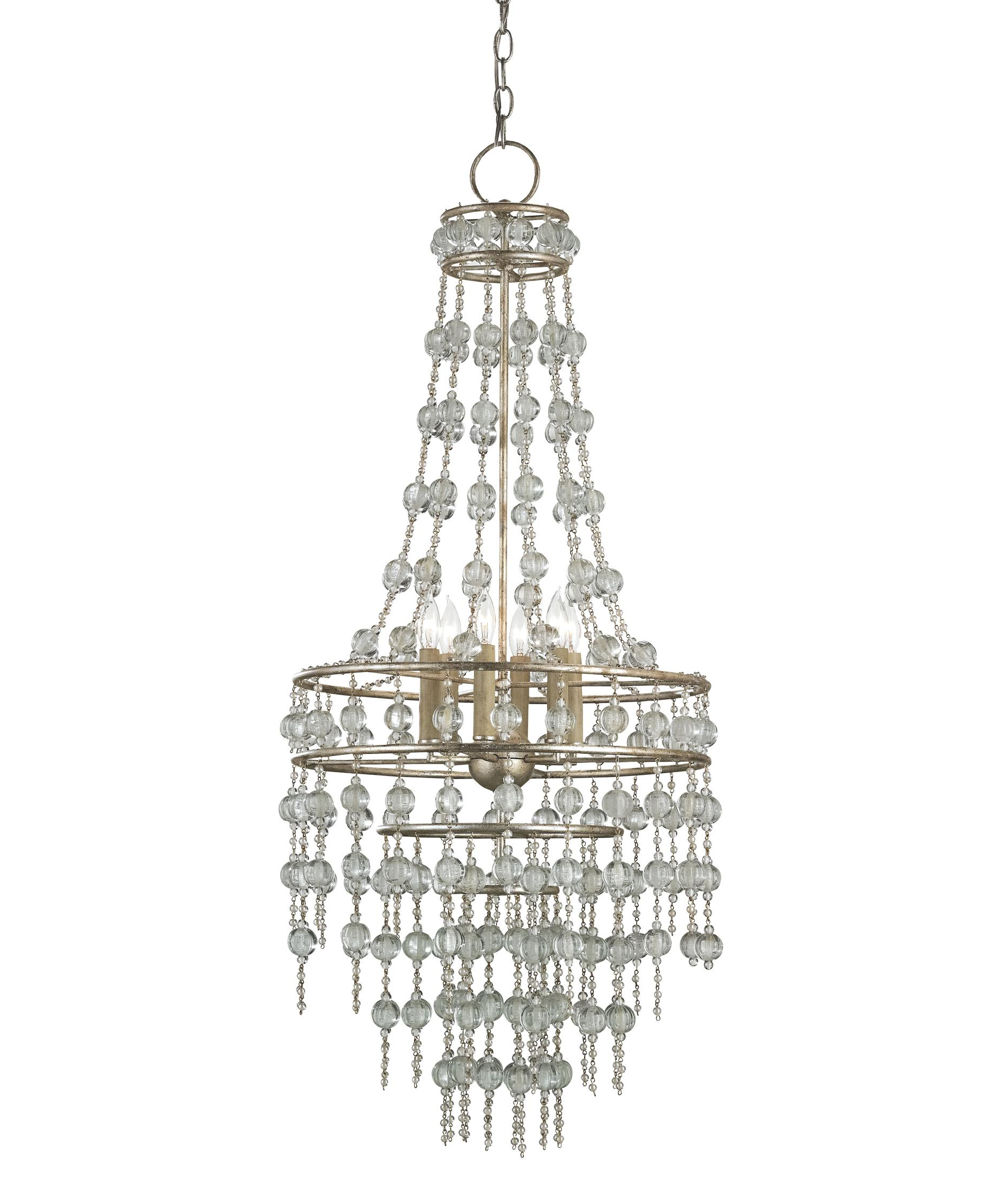 Currey and Company Rainhill 19 Inch Wide 6 Light Mini Chandelier – Currey and Company Lighting Chandeliers