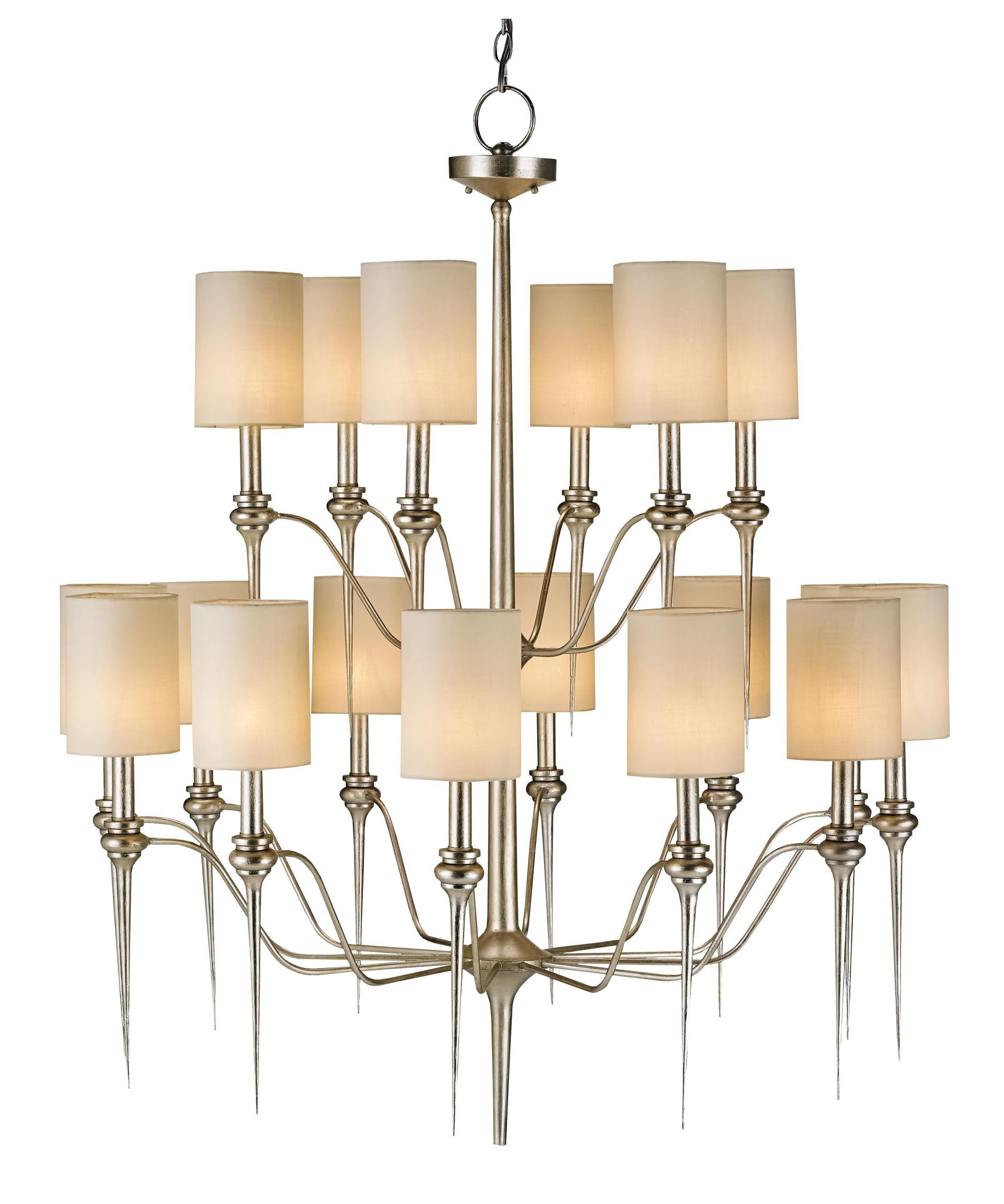 Currey and Company Chaddbury 43 Inch Large Foyer Chandelier – Large Entryway Chandeliers