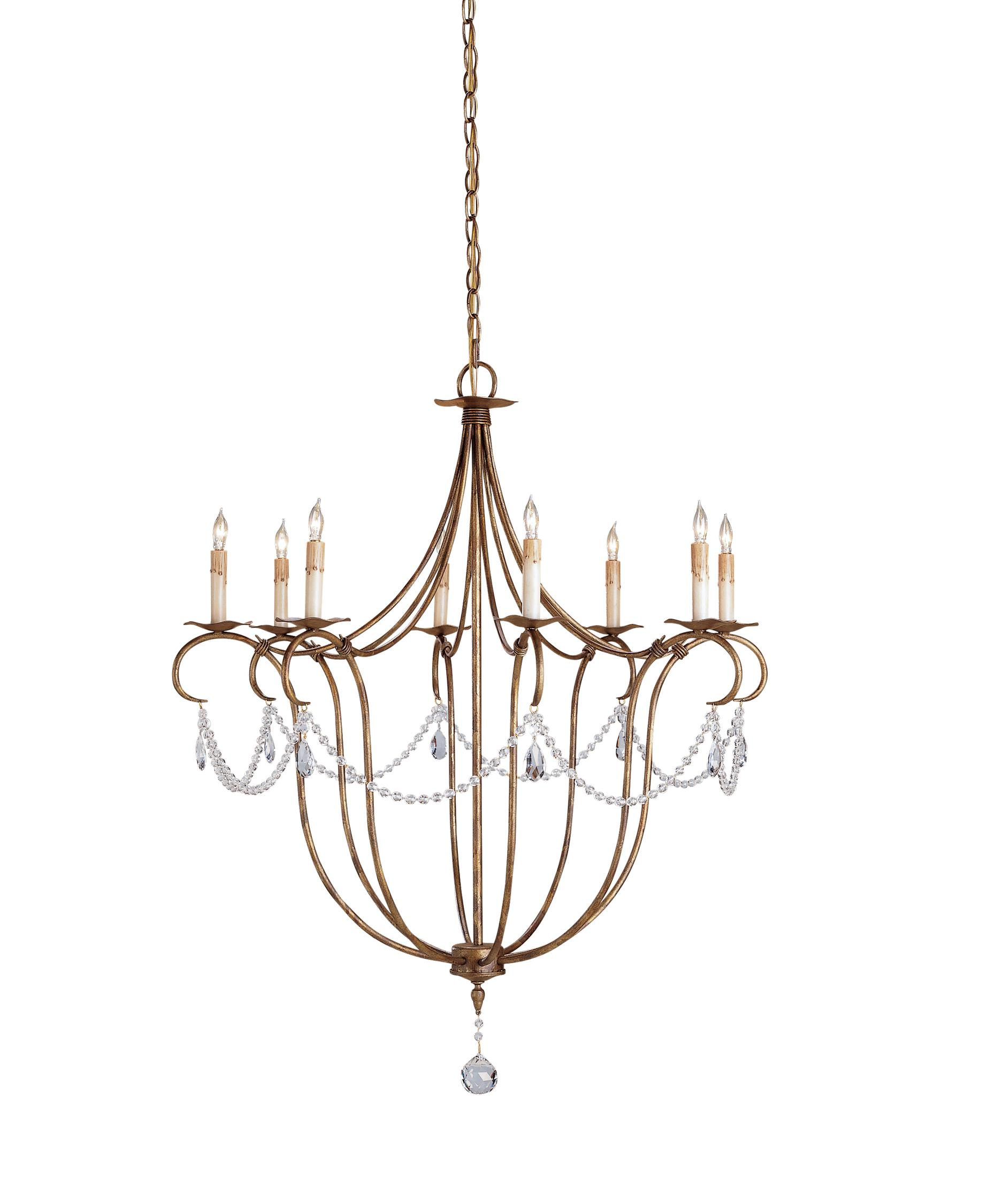 Currey and Company Crystal Lights 31 Inch Wide 8 Light Chandelier – Currey and Company Lighting Chandeliers