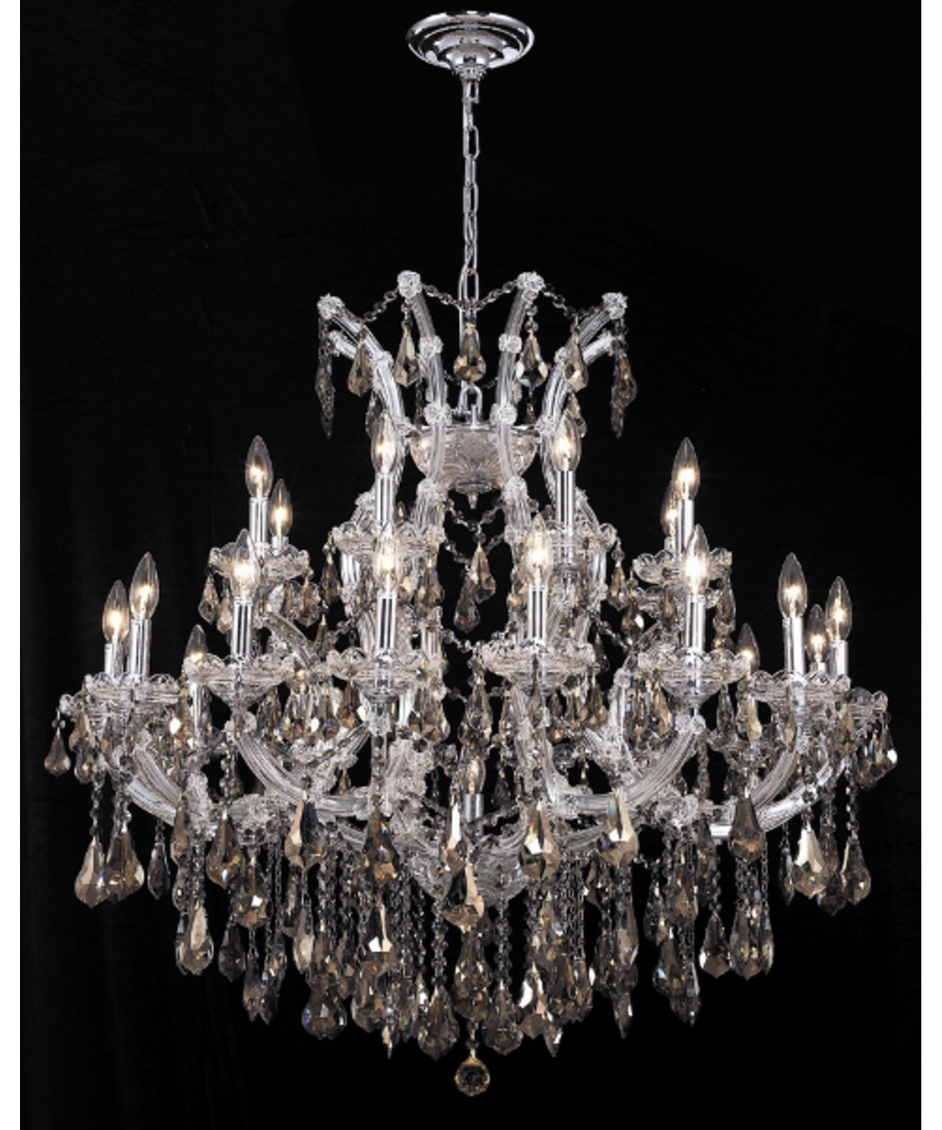 Maria Theresa Chandeliers: Elegant Lighting Maria Theresa 36 Inch Wide 24 Light Chandelier | Capitol  Lighting 1-800lighting.com,Lighting