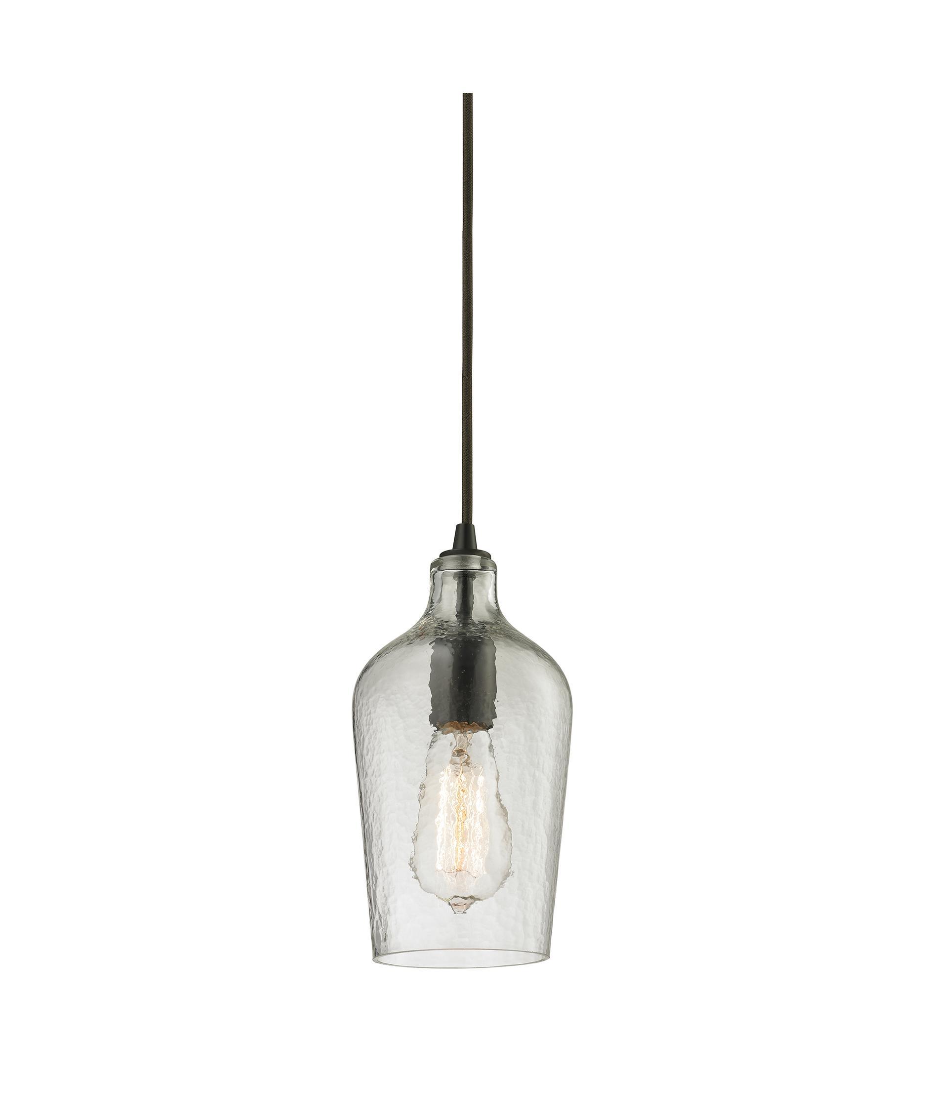 ELK Lighting 10331 1 Hammered Glass 2 Inch Wide 1 Light Mini Pendant |  Capitol Lighting 1 800lighting.com
