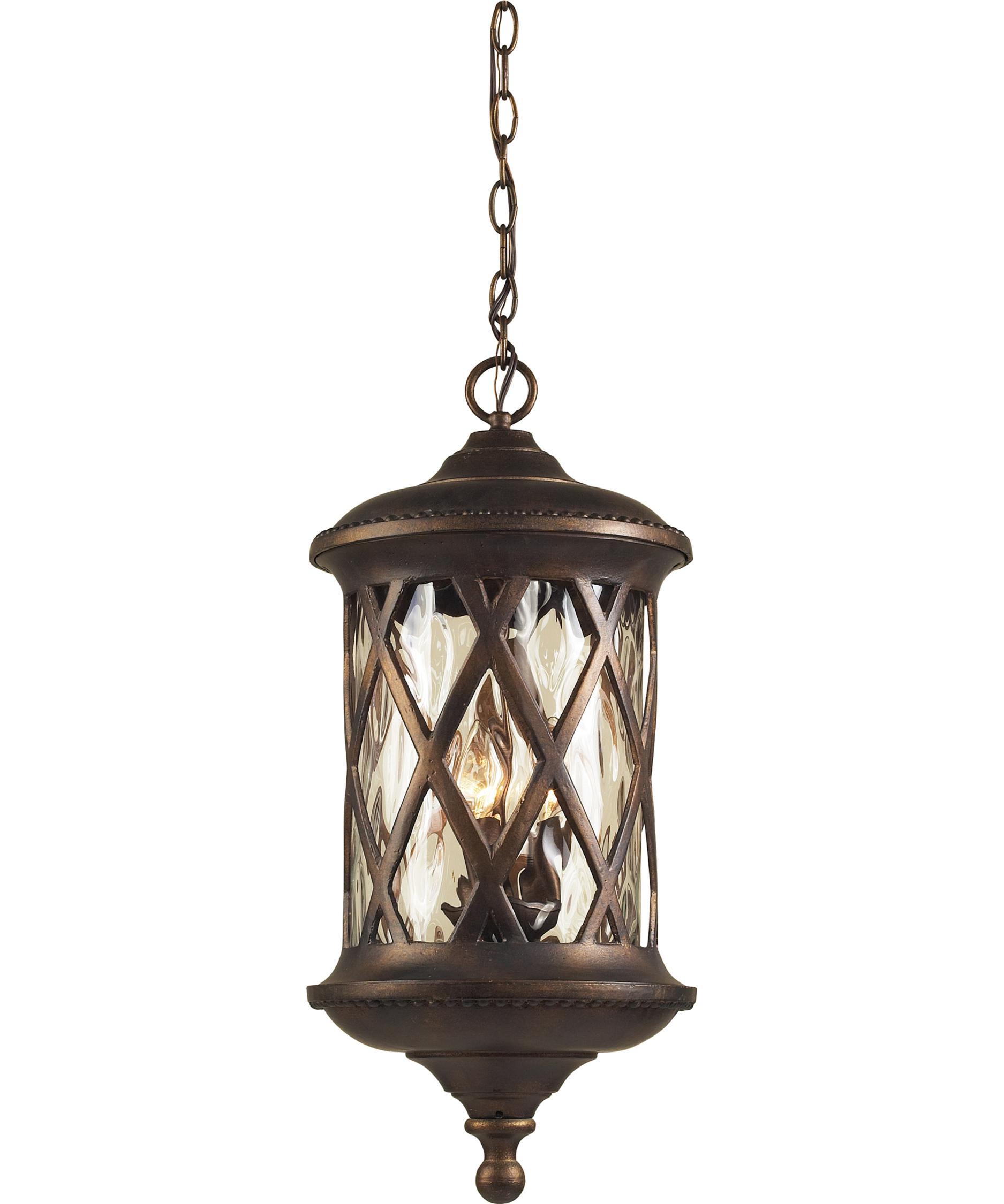 ELK Lighting 42033 3 Barrington Gate 11 Inch Wide 3 Light Outdoor Hanging  Lantern | Capitol Lighting 1 800lighting.com