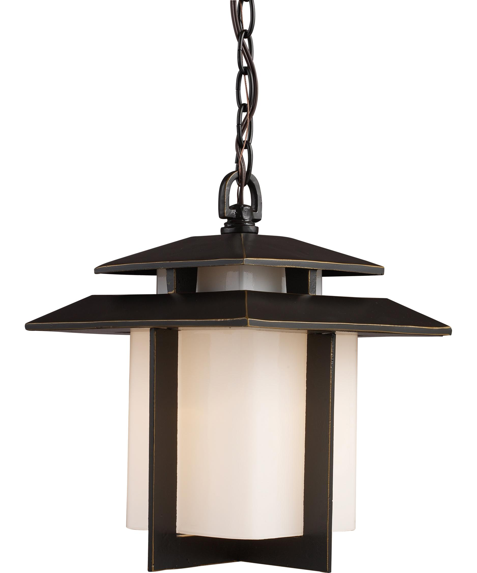 Outdoor hanging lamp - Elk Lighting 42172 1 Kanso 10 Inch Wide 1 Light Outdoor Hanging Lantern Capitol Lighting 1 800lighting Com
