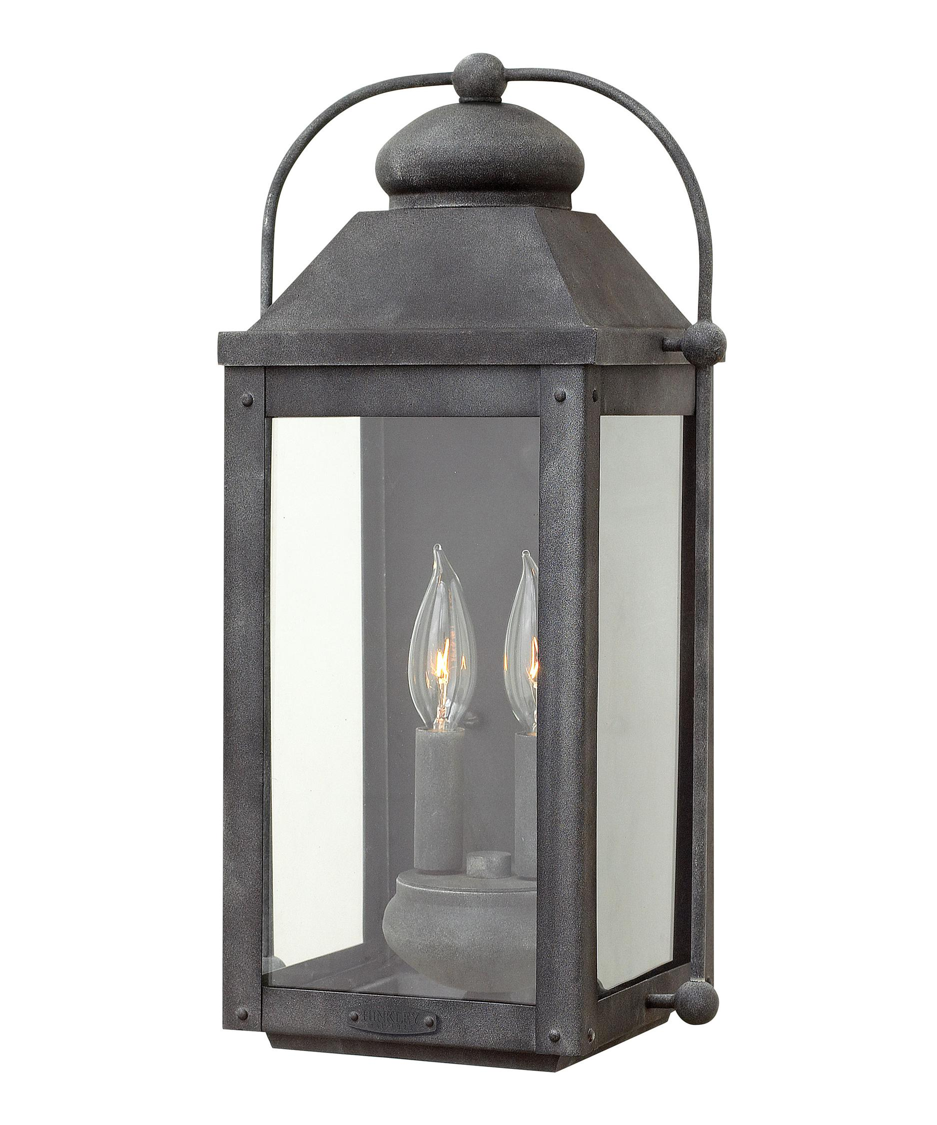 Anchorage 9 Inch Wide 2 Light Outdoor Wall Light
