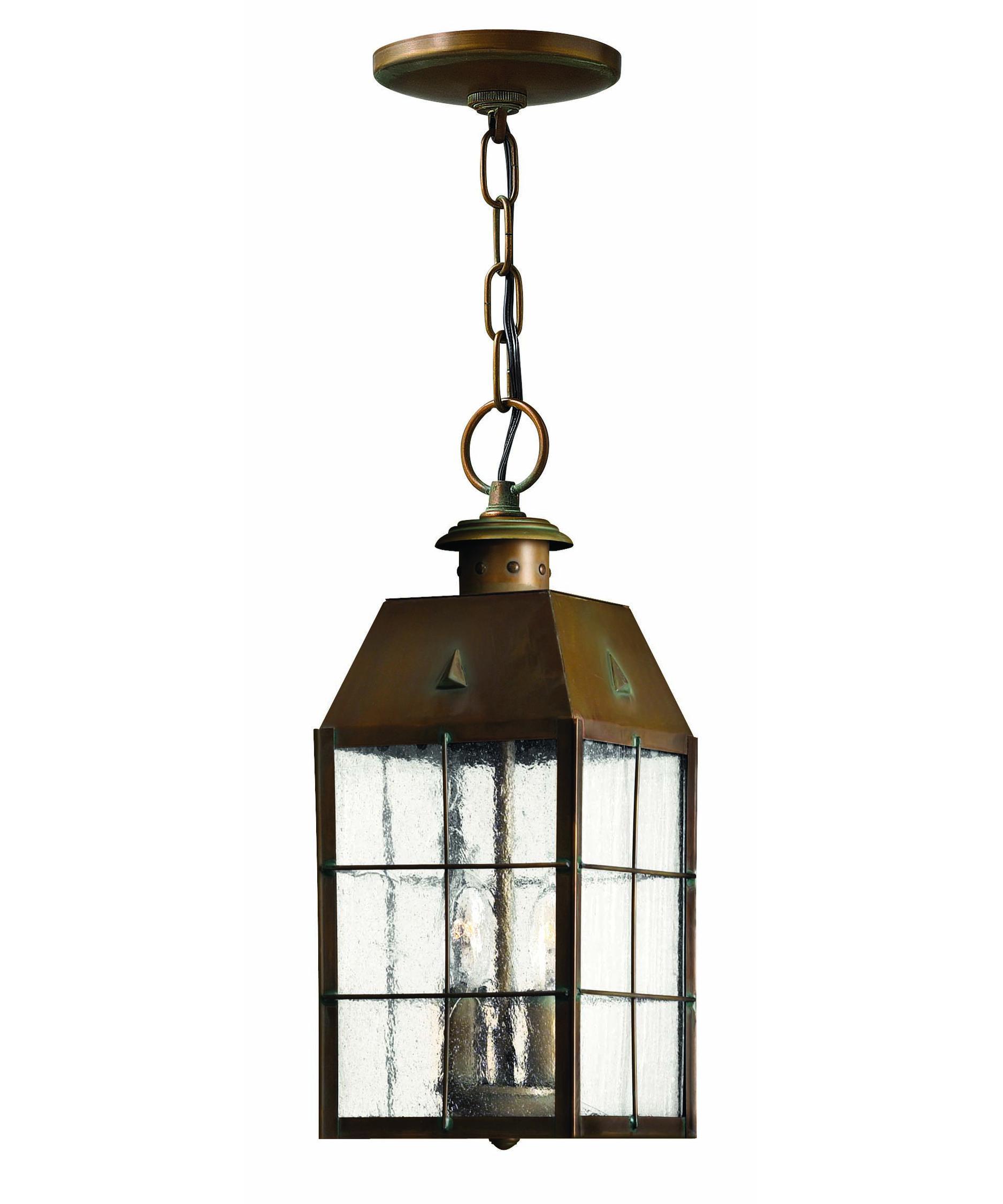 Outdoor hanging lamp - Hinkley Lighting 2372 Nantucket 6 Inch Wide 2 Light Outdoor Hanging Lantern Capitol Lighting 1 800lighting Com