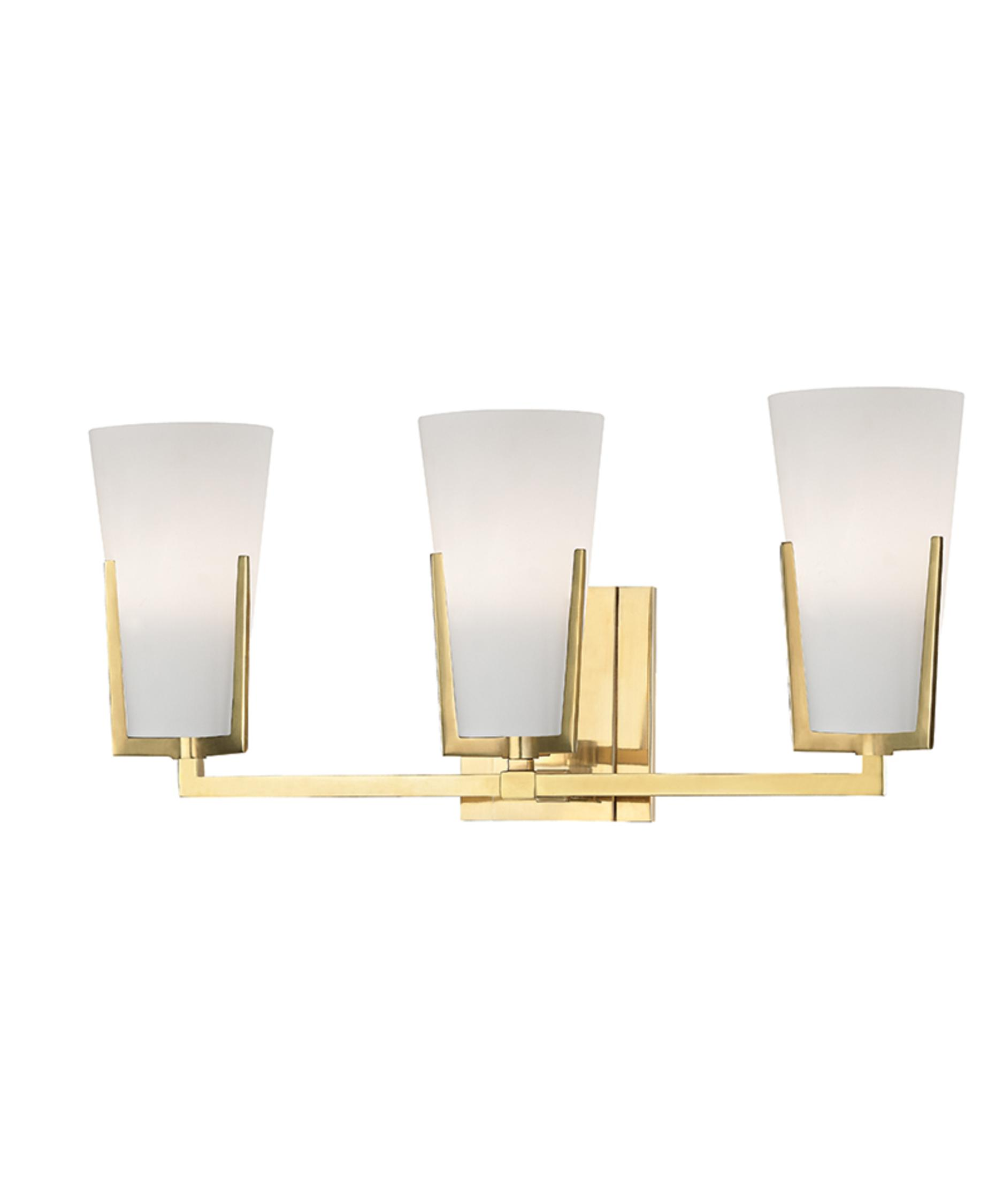 Bathroom Vanity Lights Brass hudson valley 1803 upton 19 inch wide bath vanity light | capitol