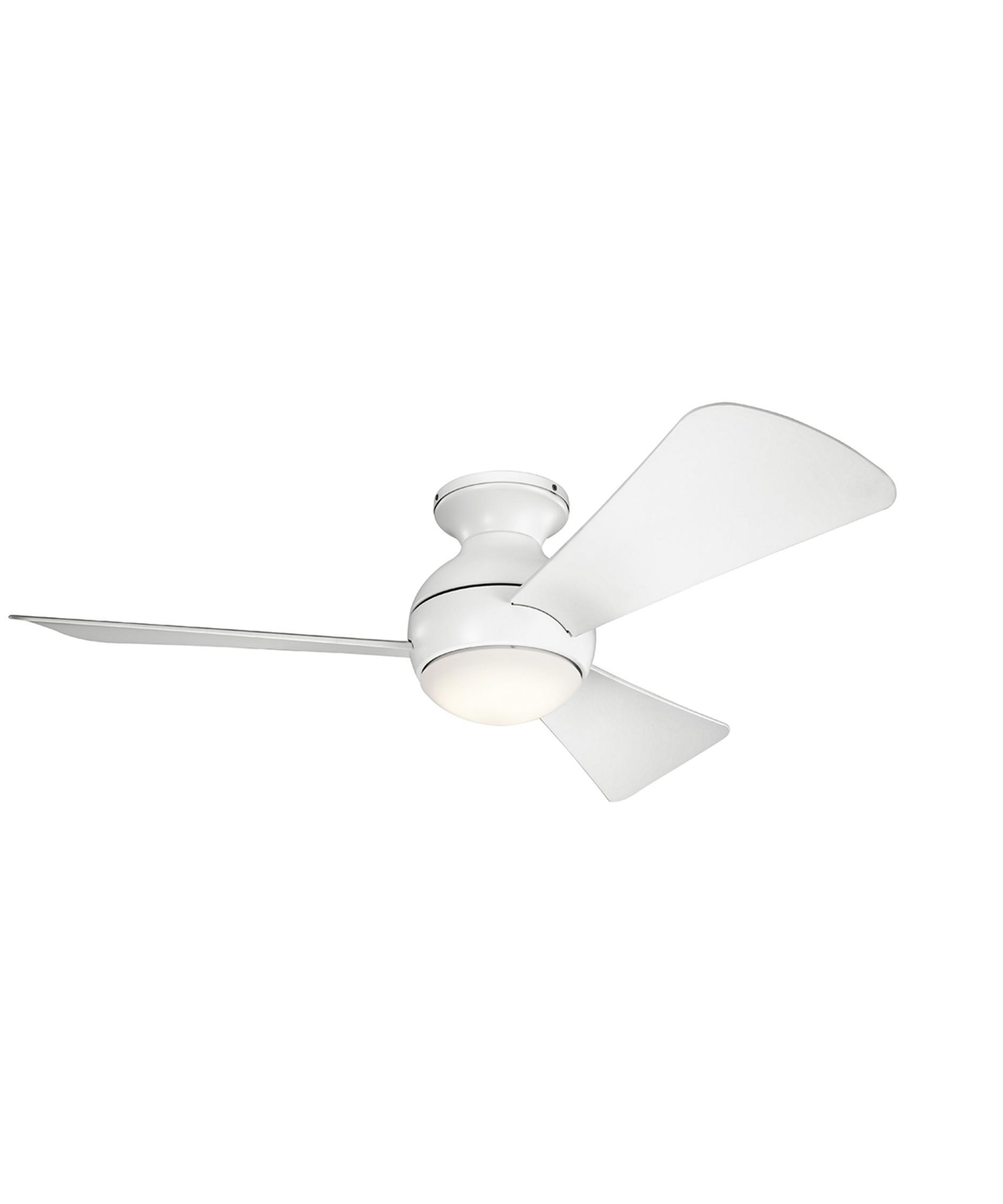 kichler sola 44 inch 3 blade flush mount fan capitol lighting - Kichler Fans