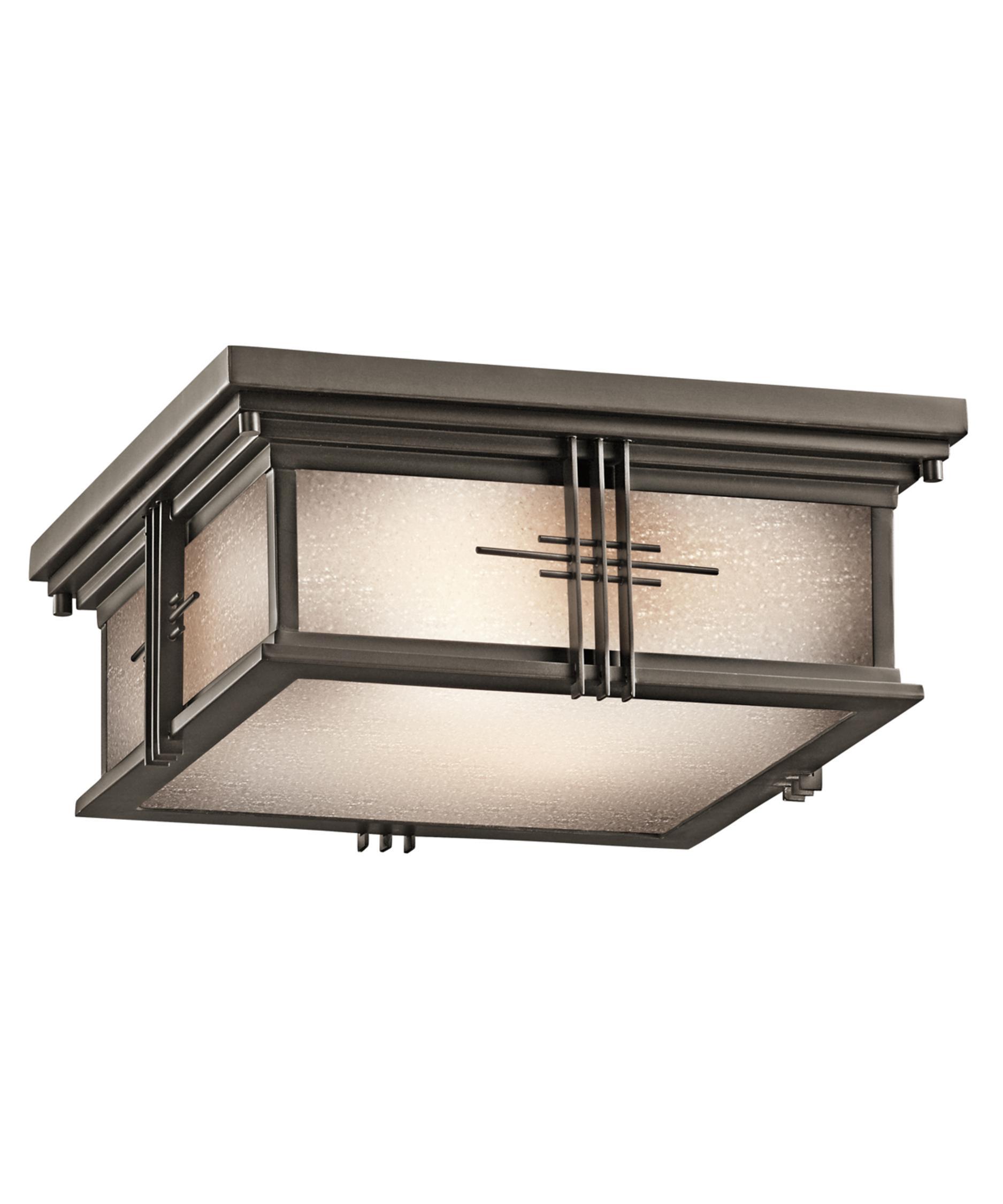 Kichler 49164 Portman Square 12 Inch Wide 2 Light Outdoor Flush