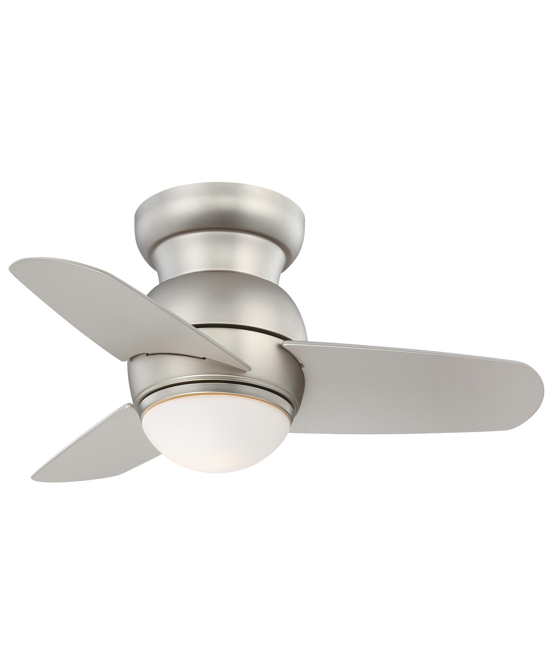 shown in brushed steel finish and etched opal glass - Minka Aire Fans