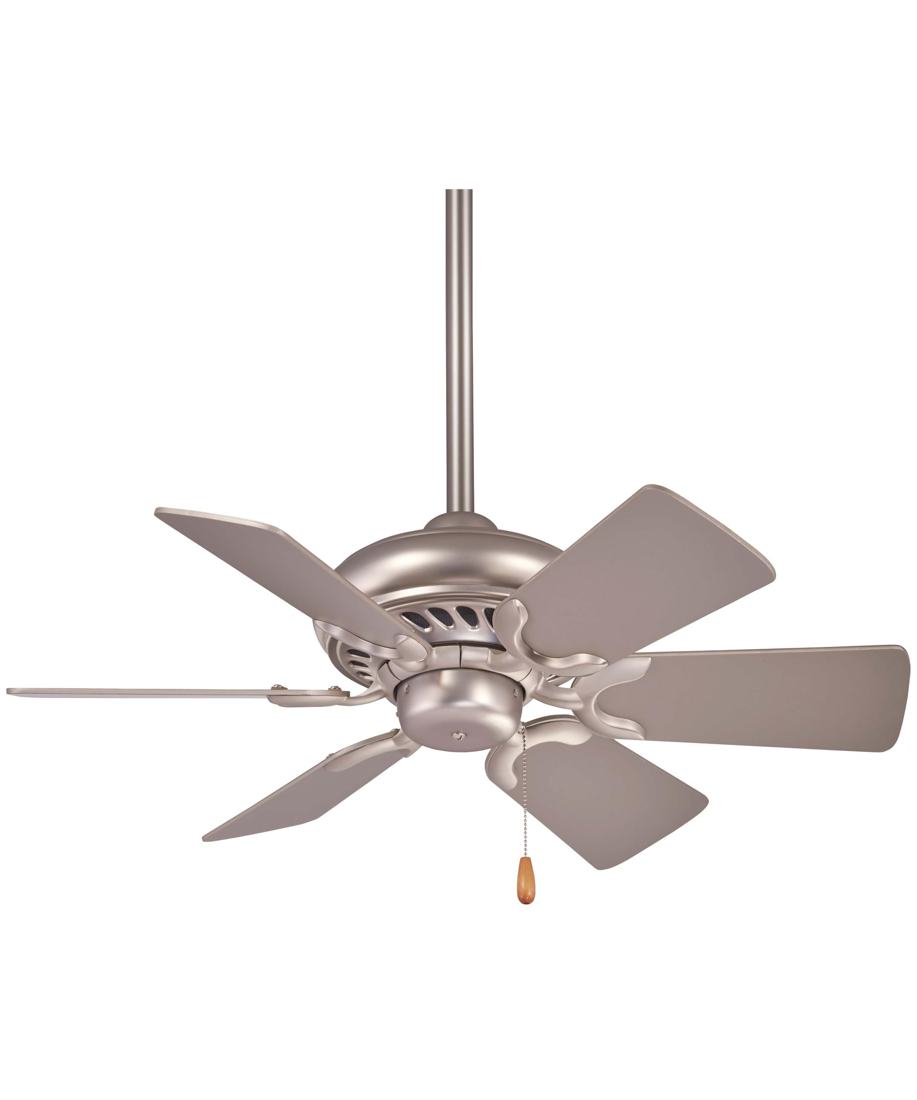 Minka Aire Supra 32 Inch 6 Blade Ceiling Fan | Capitol Lighting 1 ...:Shown in Brushed Steel finish,Lighting