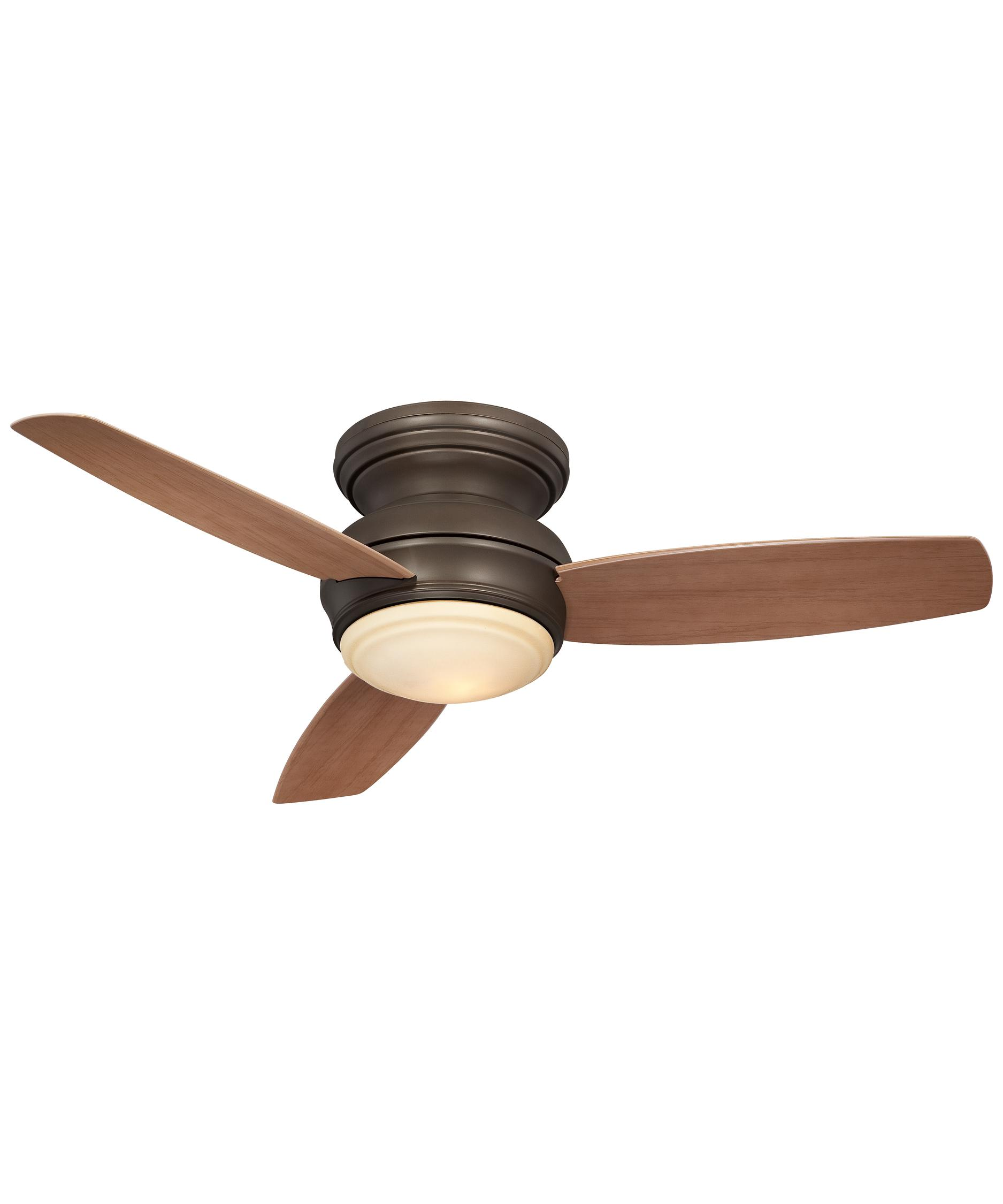 shown in oil rubbed bronze finish and tinted opal glass - Flush Mount Ceiling Fans