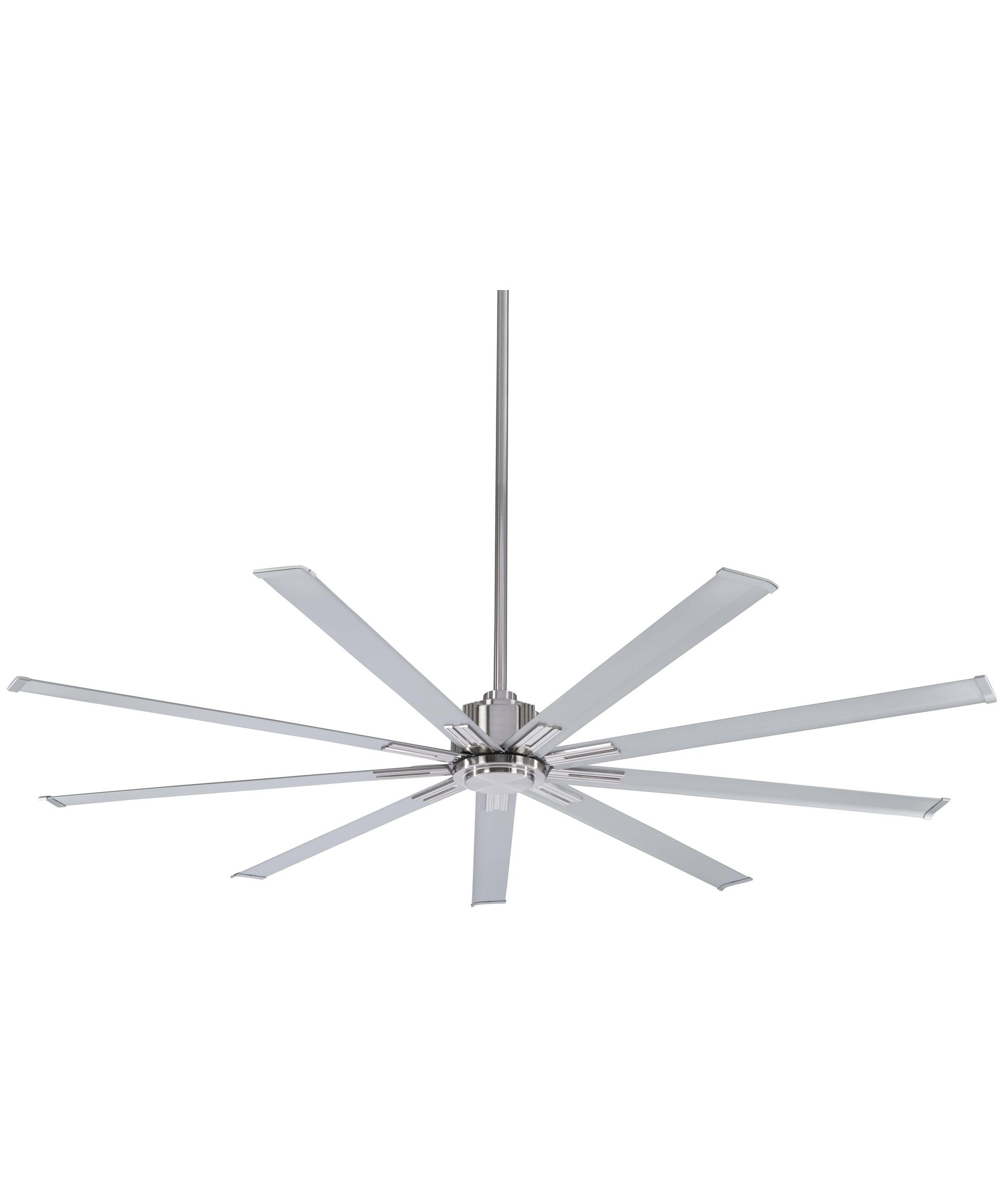 shown in brushed nickel finish - Minka Ceiling Fans