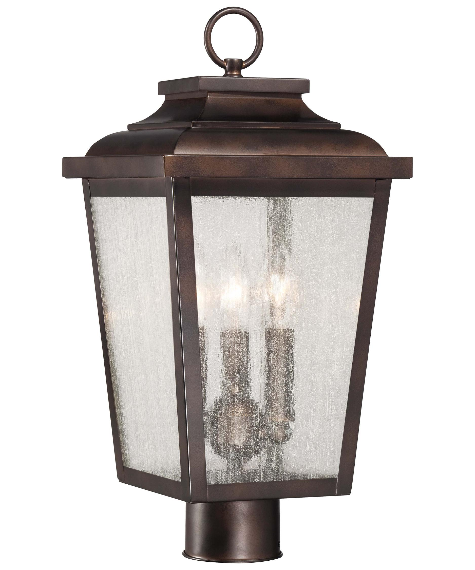 minka lavery irvington manor 9 inch wide 3 light outdoor post lamp capitol lighting - Minka Lighting