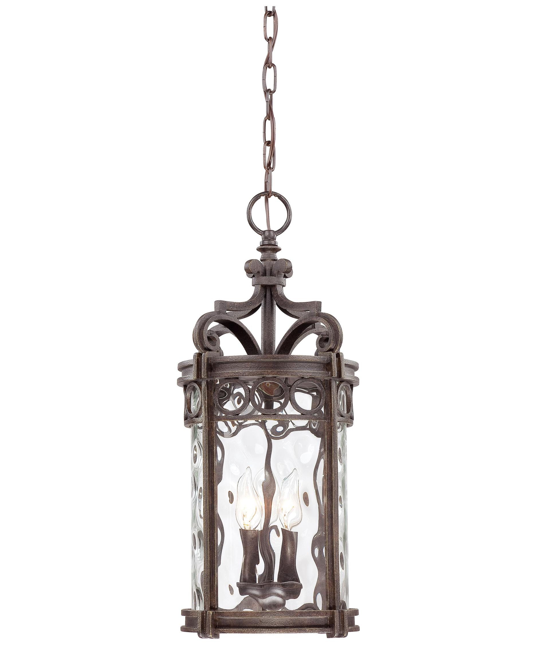 Shown In Regal Bay Patina Finish And Clear Hammered Glass