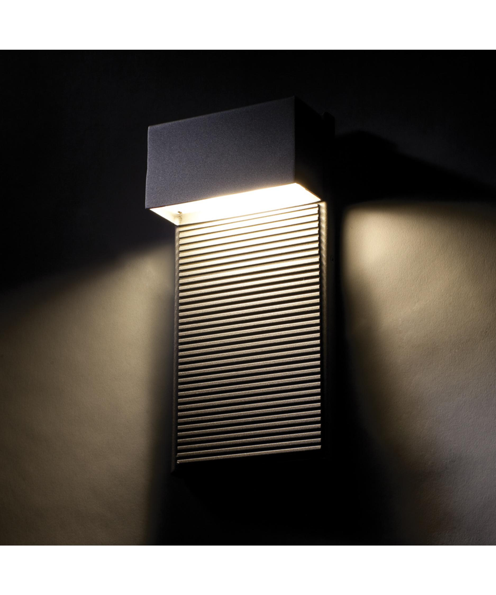 Black Outdoor Wall Light modern forms ws-w2308 hiline 5 inch wide 2 light outdoor wall