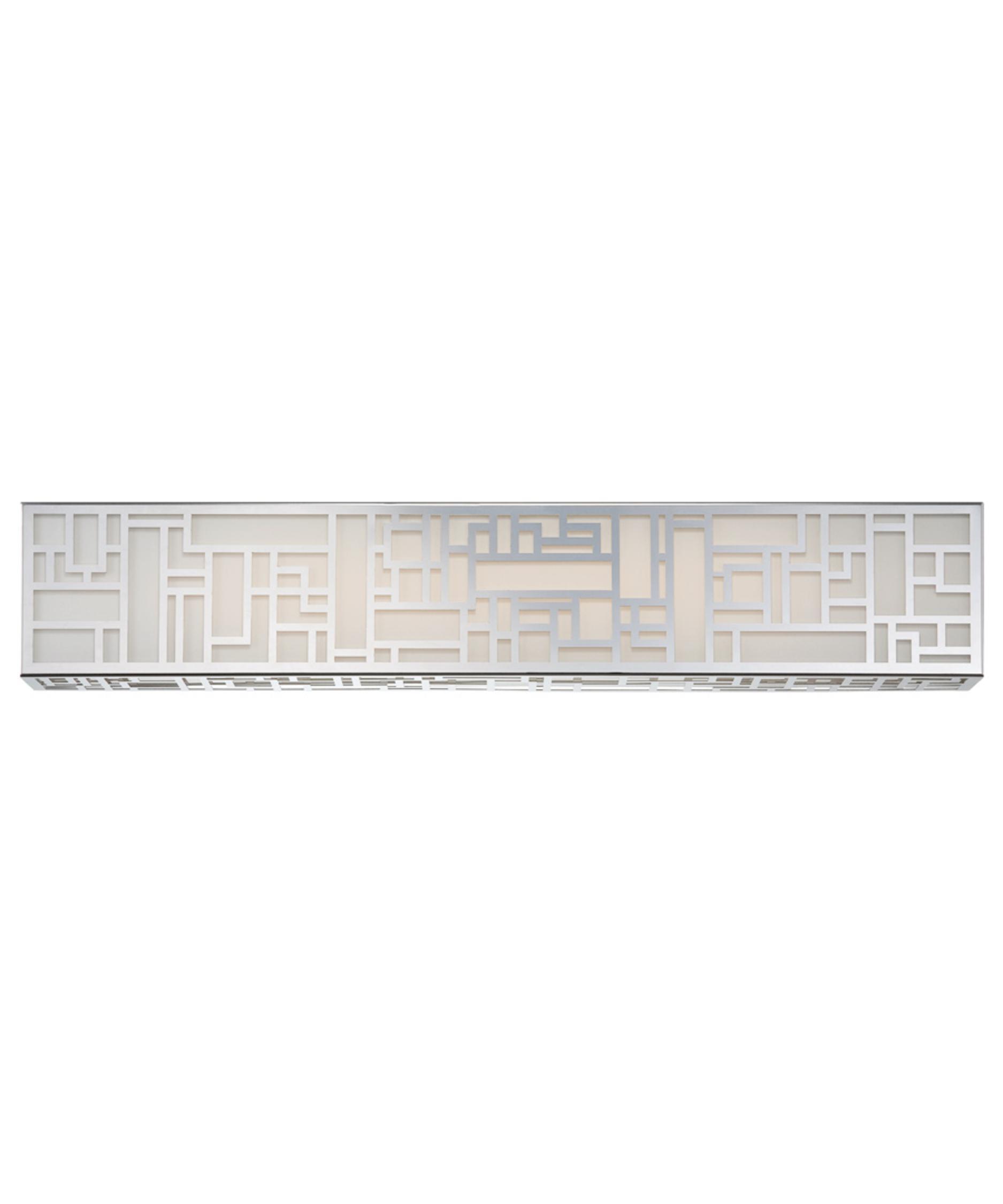 modern forms maze 28 inch wide bath vanity light capitol bat