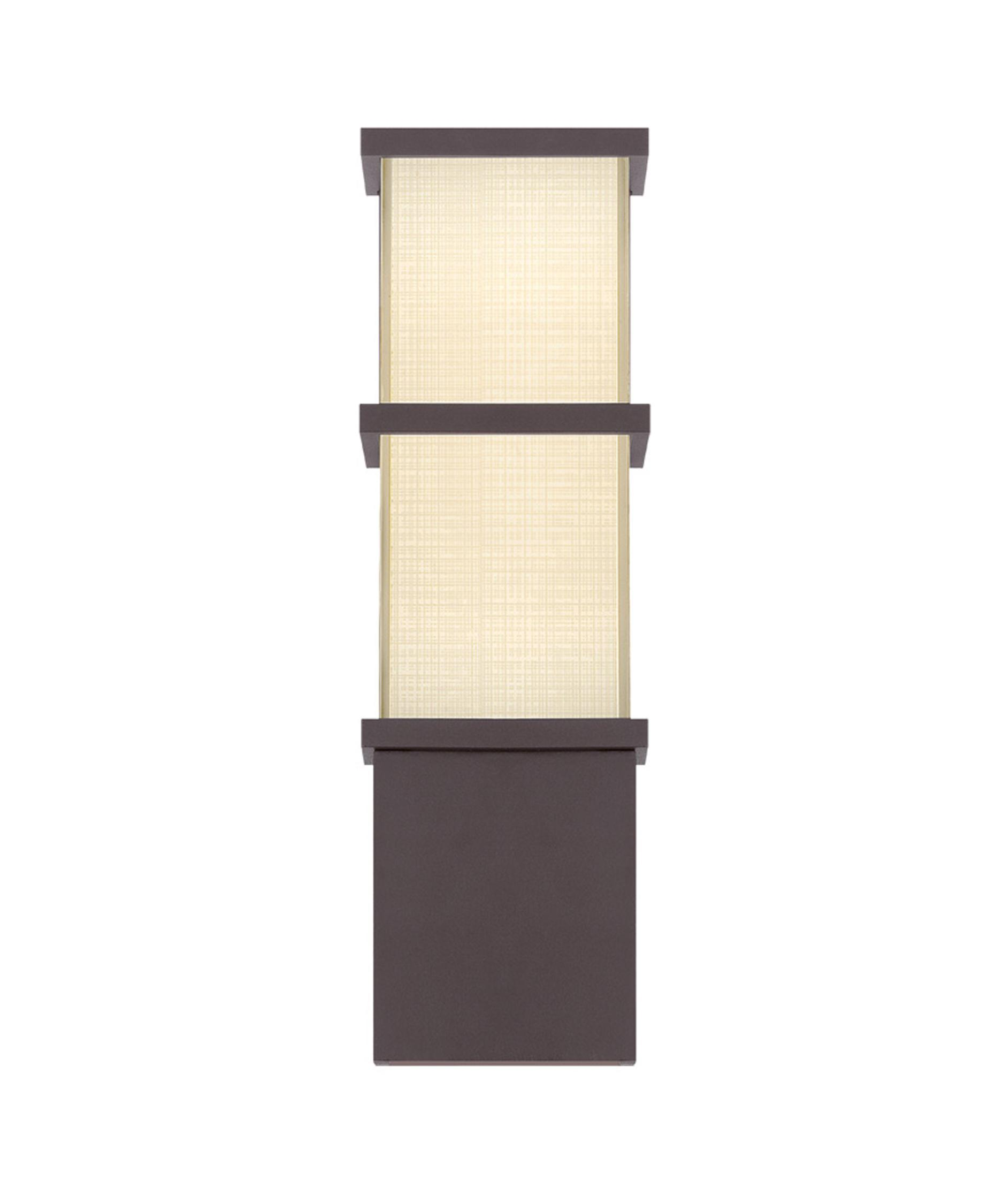 shown in bronze finish and mitered glass - Modern Forms Lighting