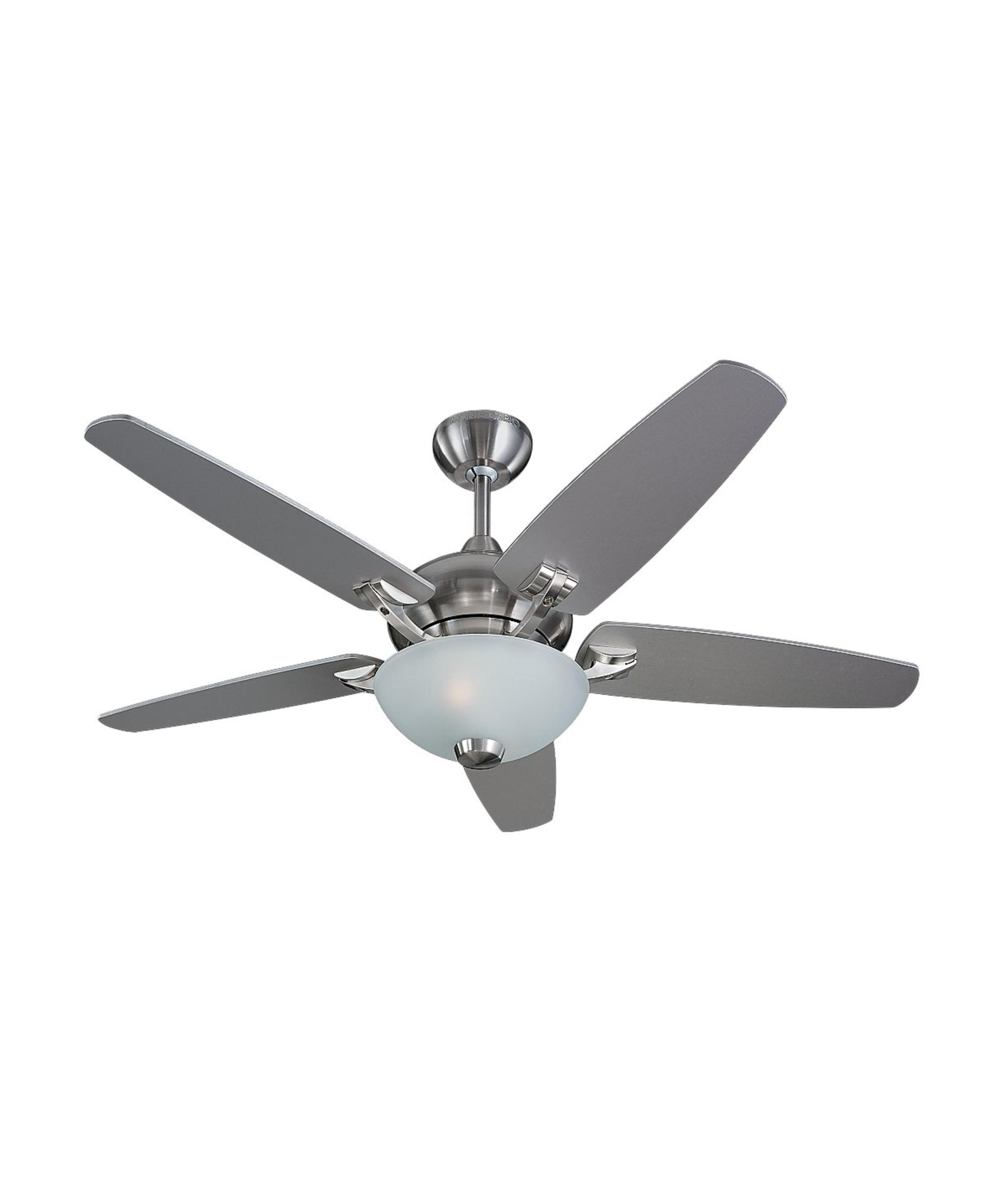 Murray Feiss Ceiling Fan Light Kit: Monte Carlo 5VSR44 Versio II 44 Inch Ceiling Fan With