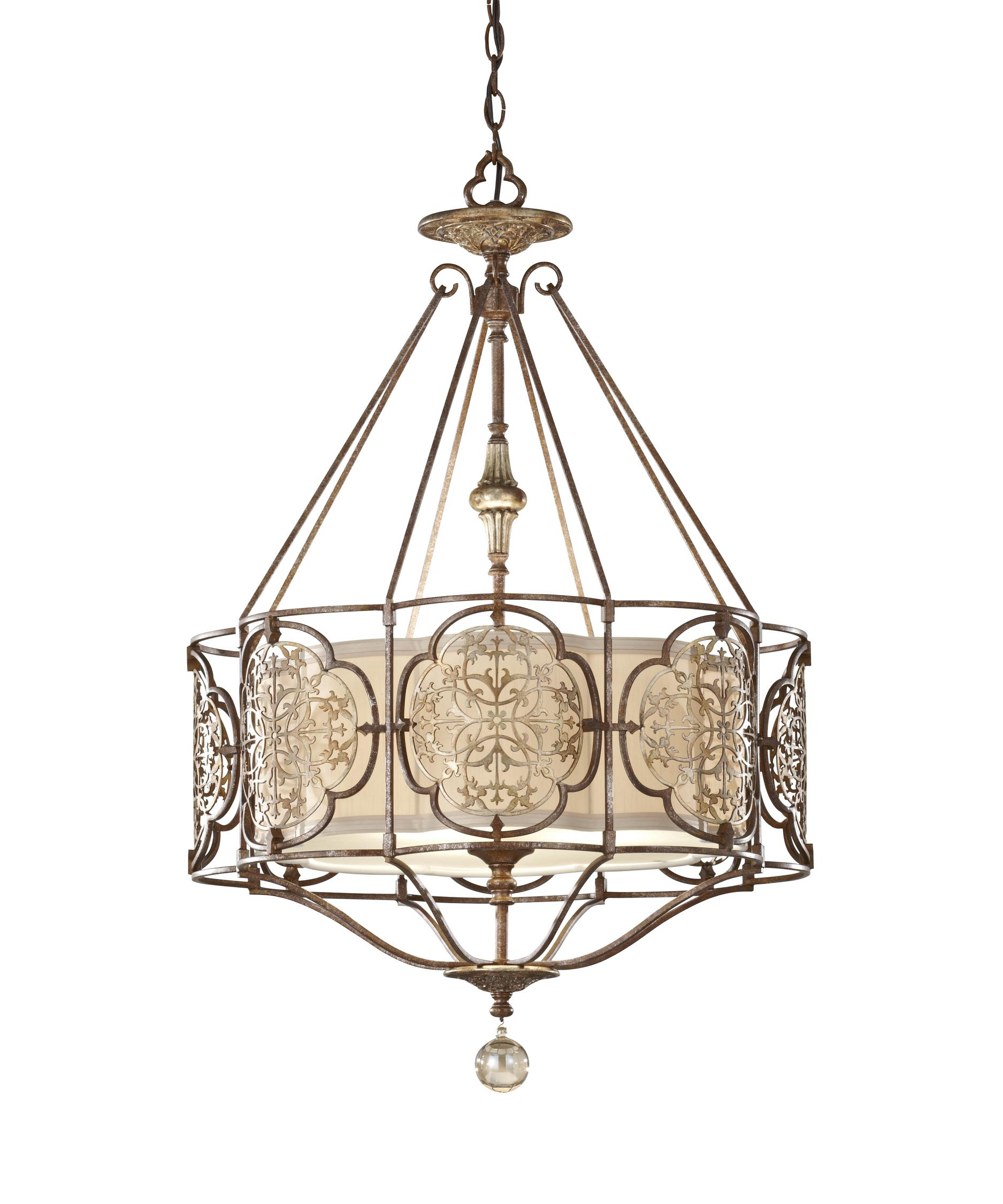 shown in british bronze and oxidized bronze finish and beige hardback shade - Feiss Lighting