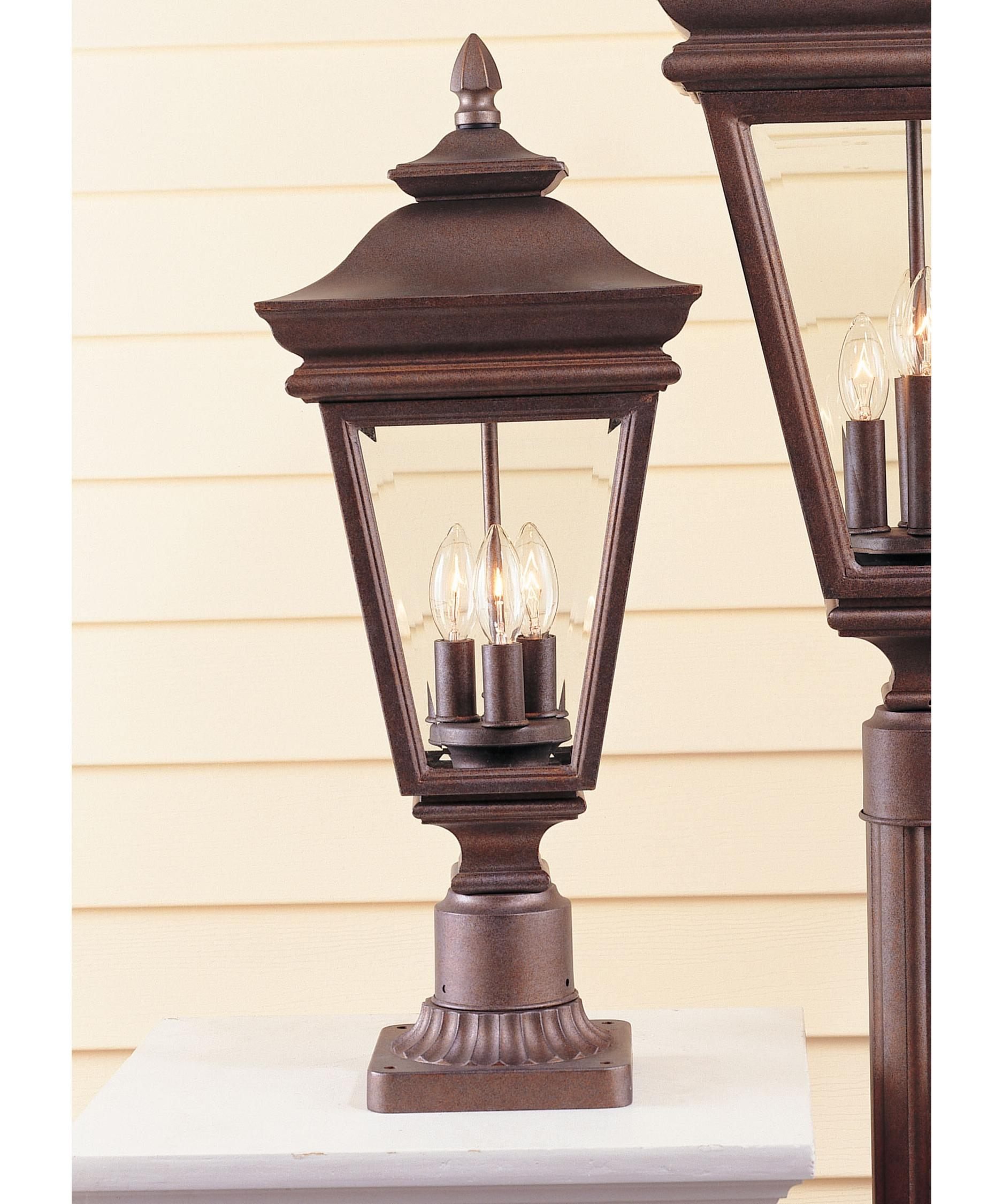 Murray Feiss Outdoor Lighting: Murray Feiss OL2707 Hampshire Court 3 Light Outdoor Post