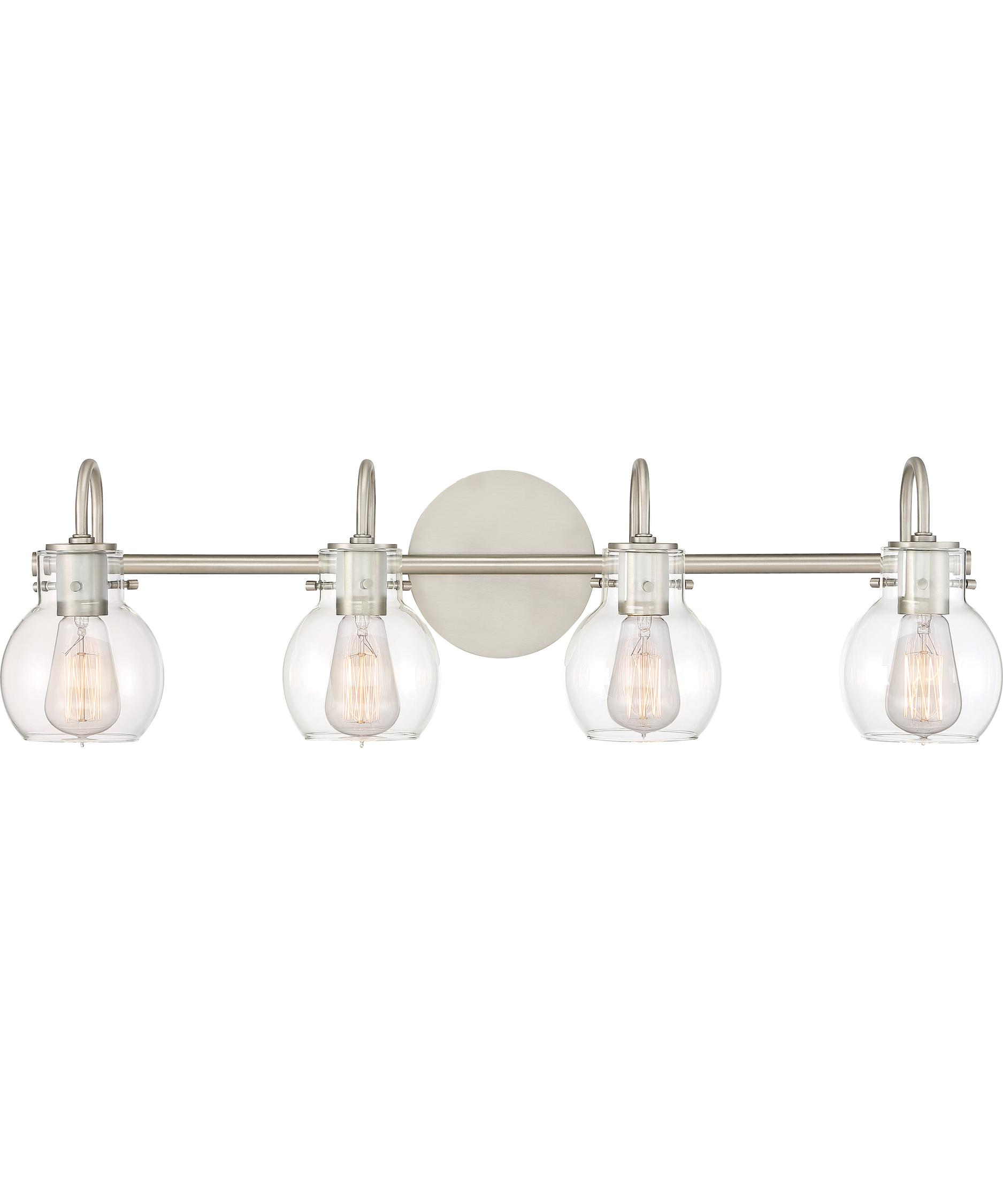 Quoizel Bathroom Light Fixtures quoizel anw8604 andrews 31 inch wide bath vanity light | capitol