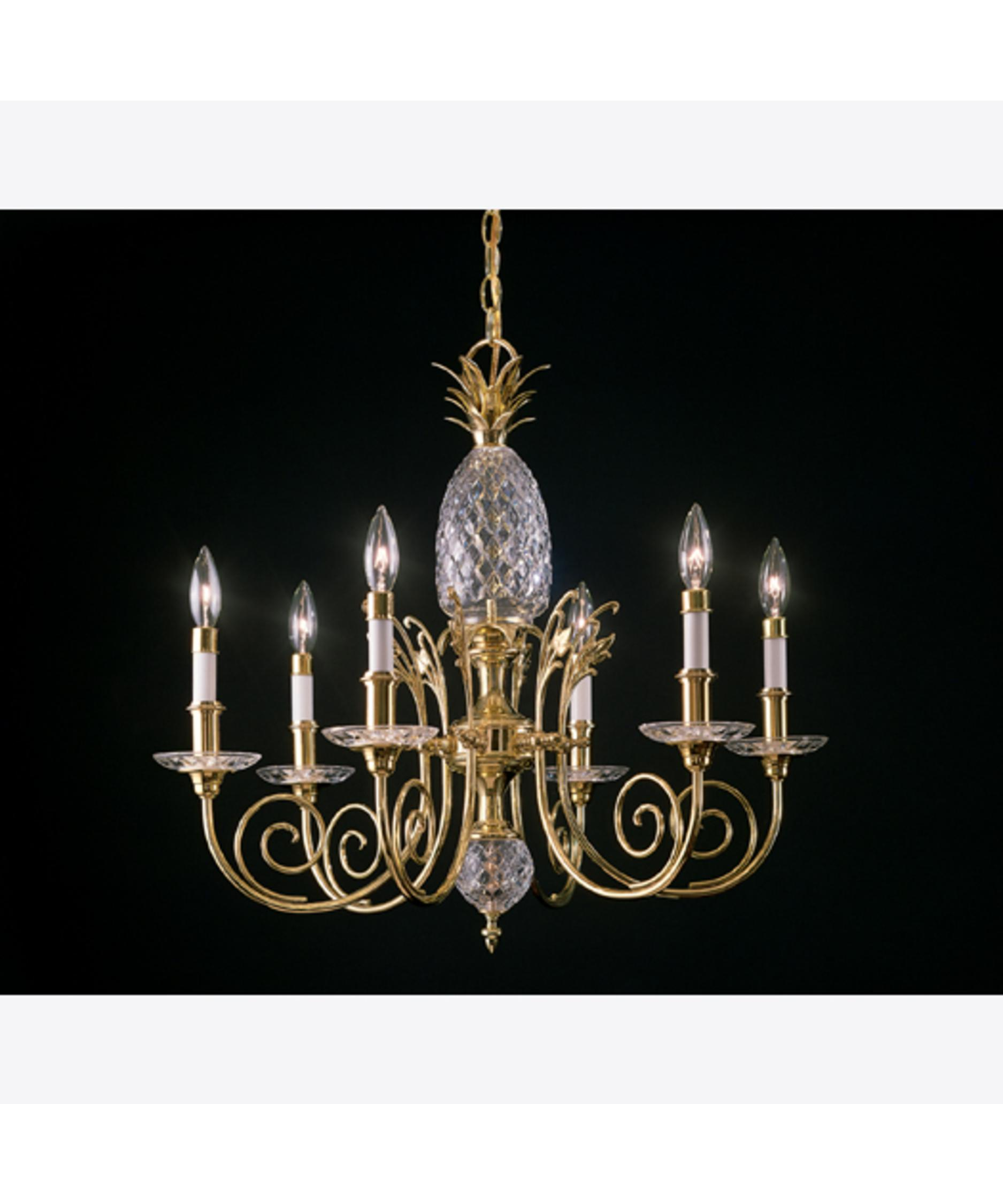 Shown In Polished Brass Finish And 24 Percent Lead Crystal Crystal