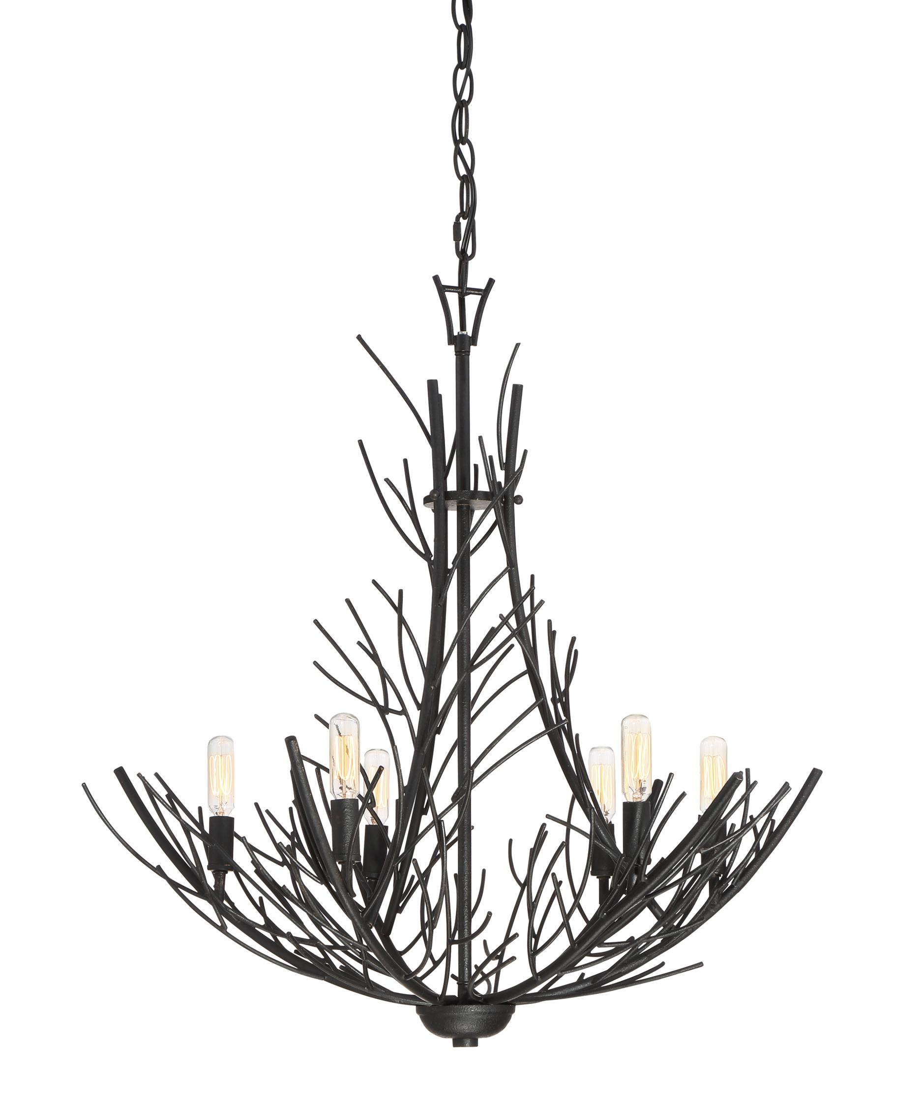 Quoizel Thornhill 26 Inch Wide 6 Light Chandelier – Quoizel Chandelier