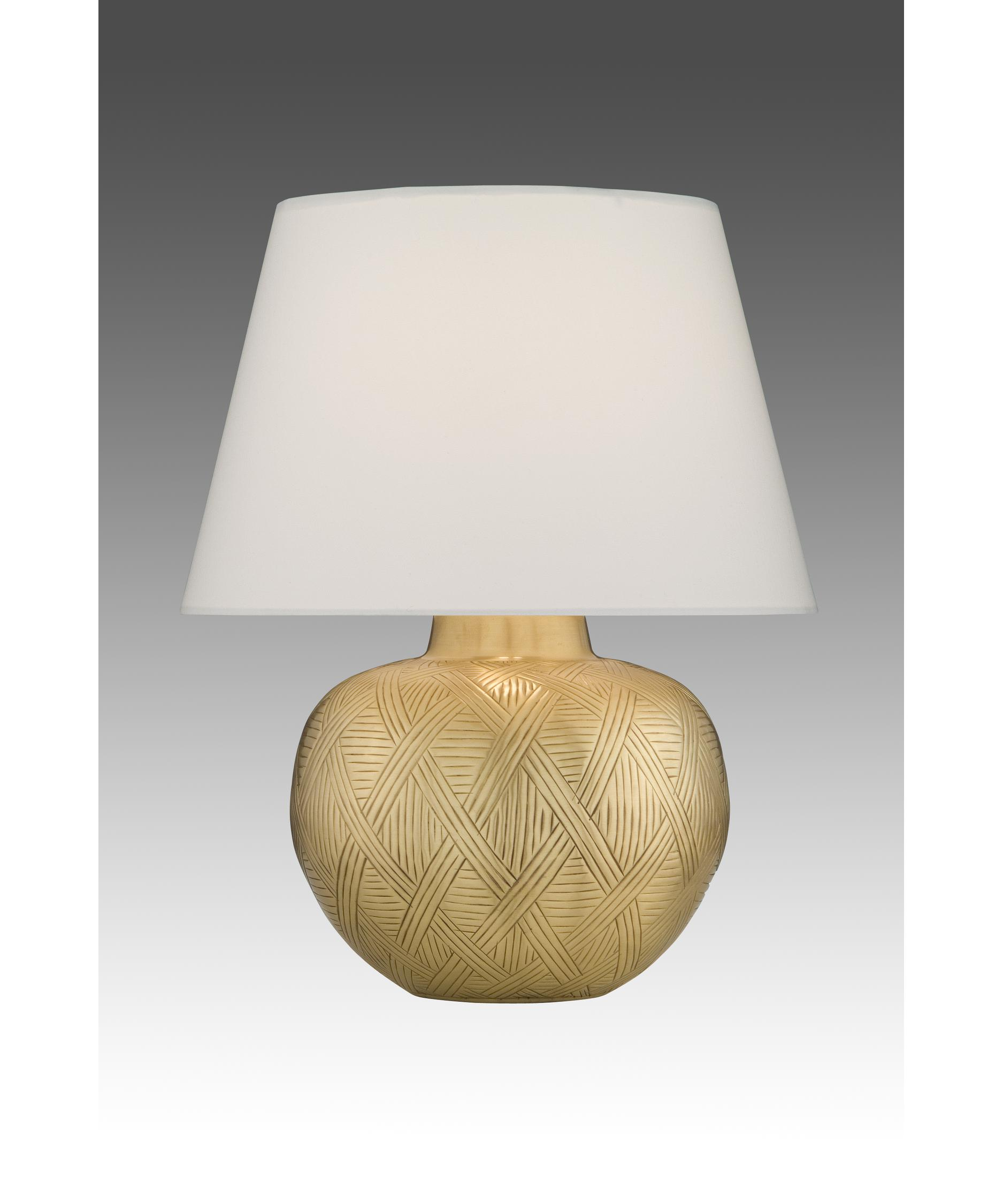 Remington Lamp 2276 Table Lamp In Hammered Brass Satin