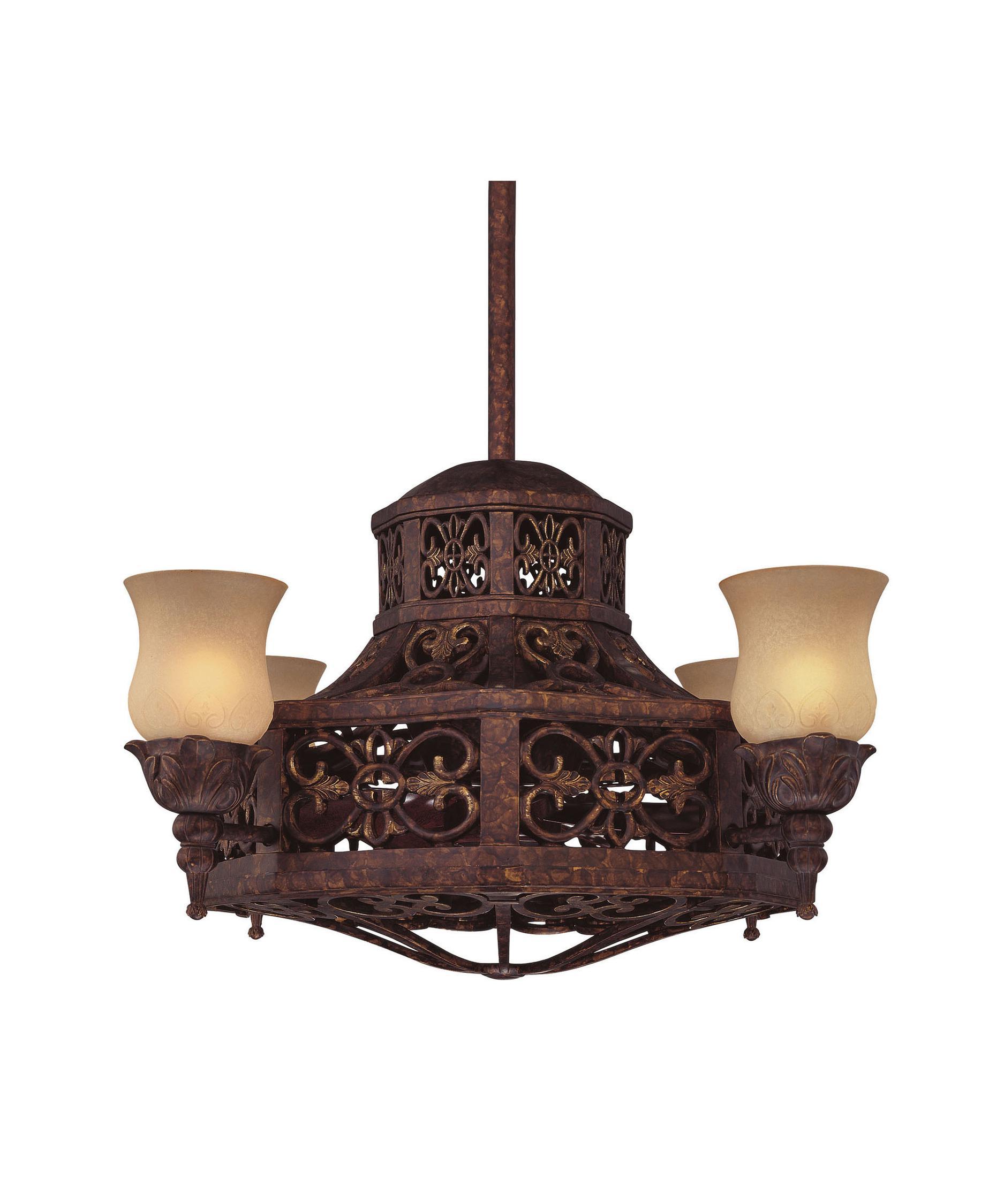 Savoy House Fire Island 14 Inch Chandelier Ceiling Fan – Fan with Chandelier
