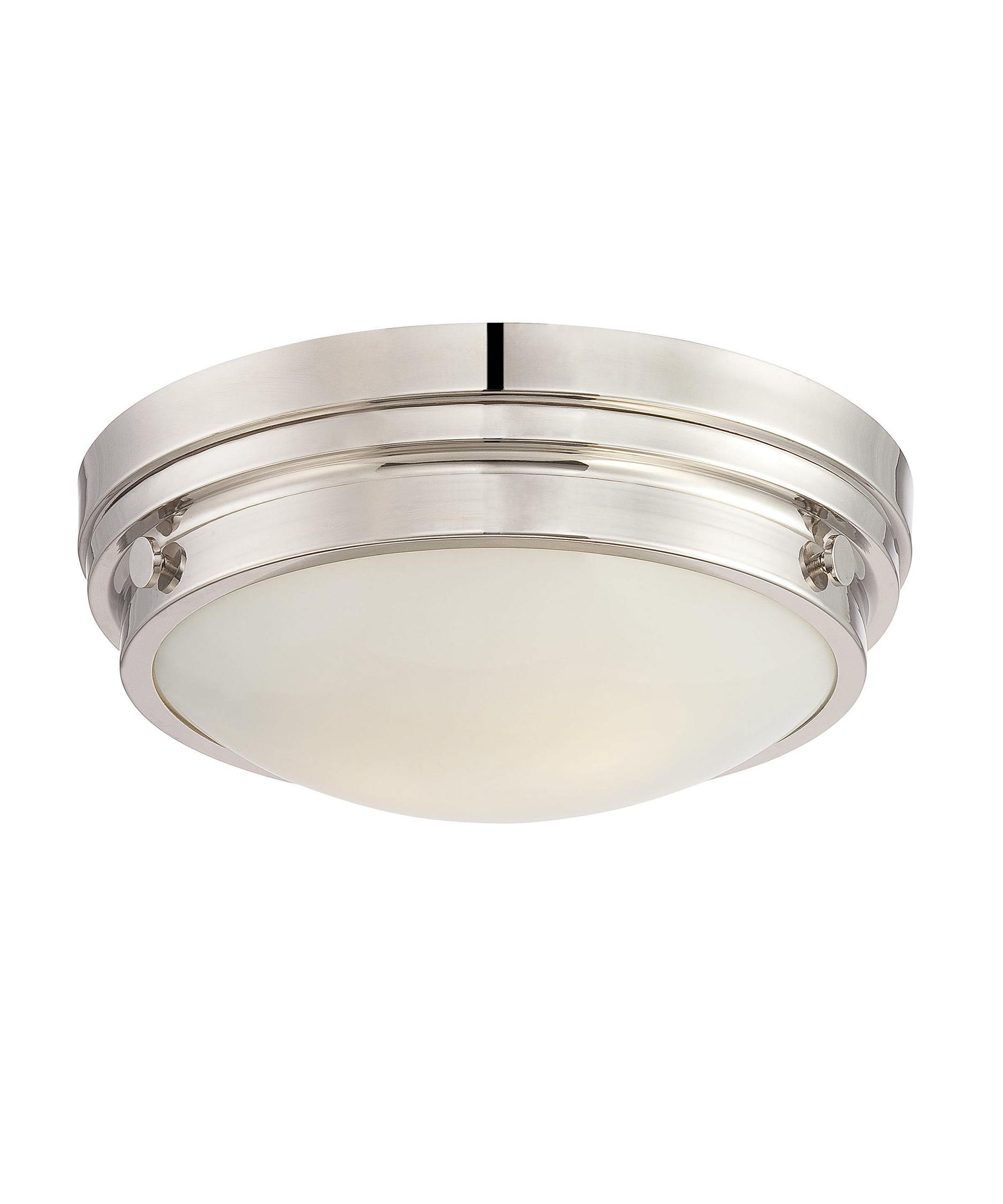 shown in polished nickel finish and white glass - Savoy Lighting