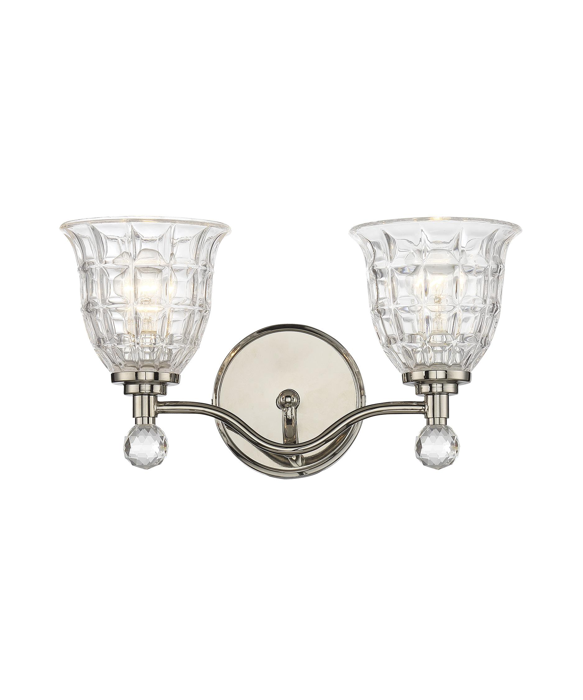 Bathroom Vanity Lights Polished Nickel savoy house 8-880-2-109 birone 16 inch wide bath vanity light
