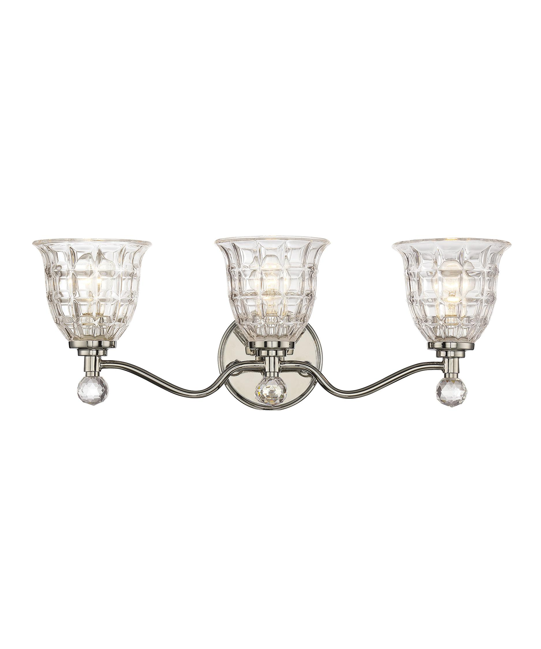 Bathroom Lighting Fixtures Polished Nickel savoy house 8-880-3-109 birone 24 inch wide bath vanity light