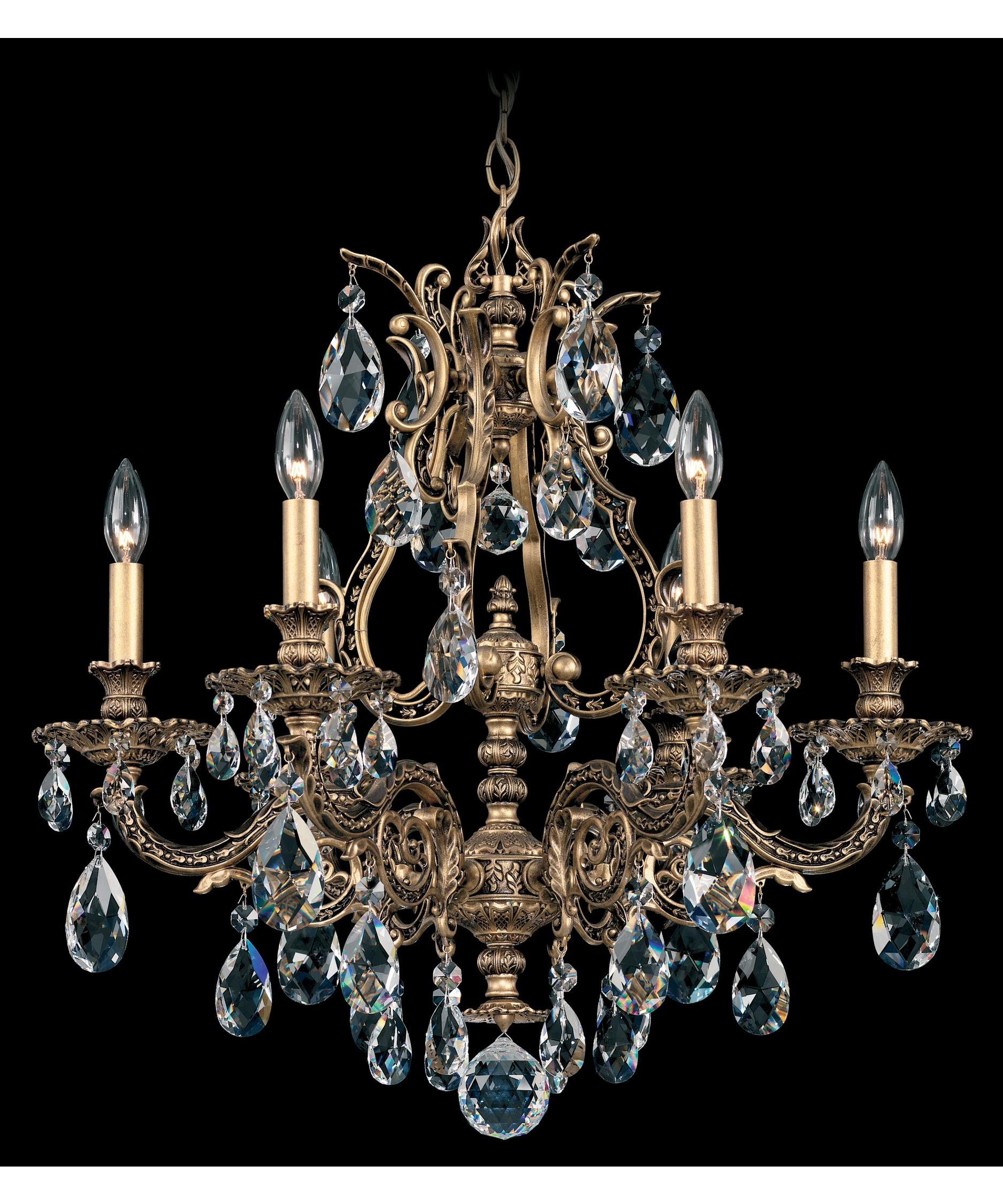 schonbek sophia 24 inch wide 6 light chandelier capitol lighting - Schonbek Lighting