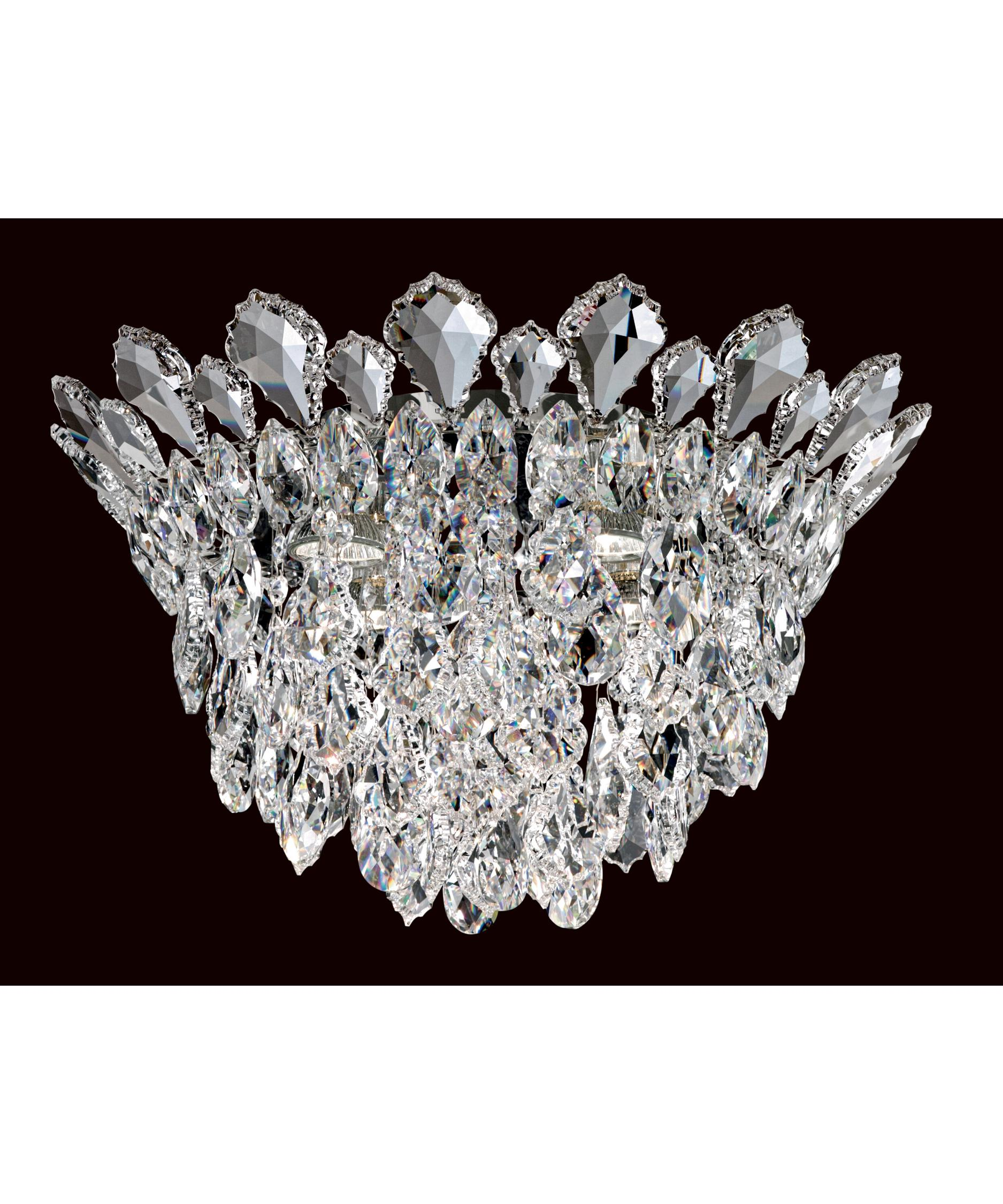 schonbek tr1201 trilliane strands 17 inch wide 4 light mini chandelier capitol lighting - Schonbek Lighting