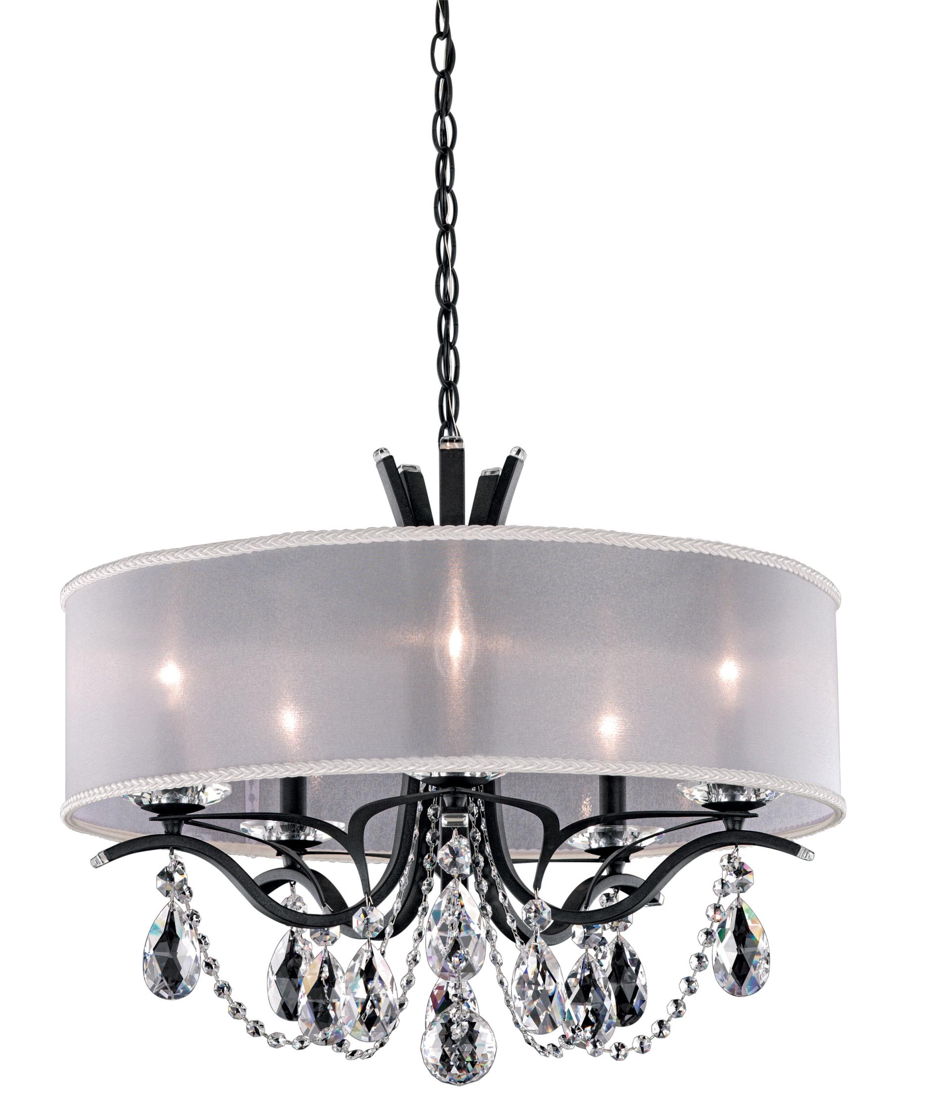 schonbek va8305 vesca 24 inch wide 5 light chandelier capitol lighting - Schonbek Lighting