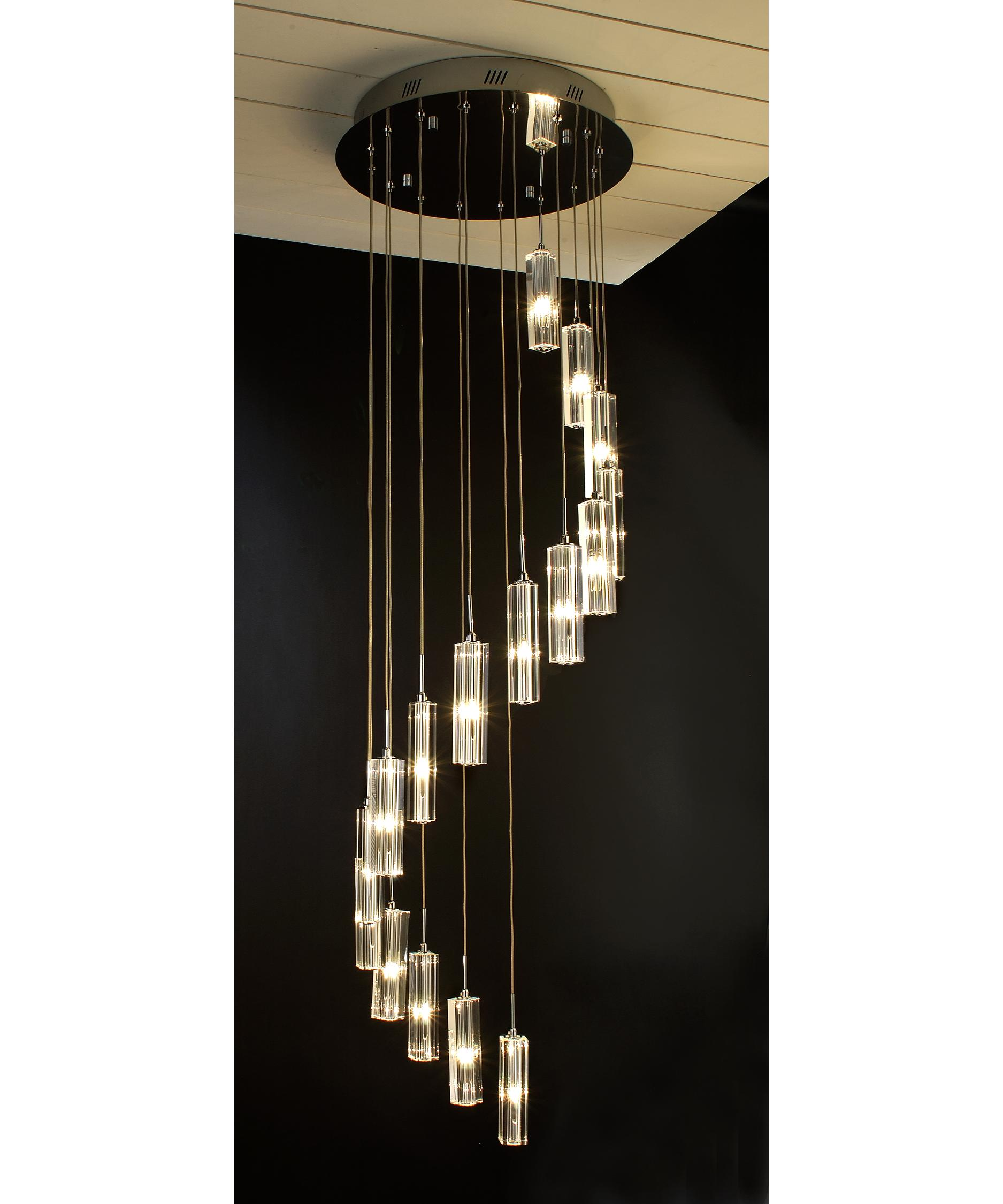 trend lighting a diamante  inch wide  light multi  - shown in polished chrome finish and round hand polished cut crystal crystal