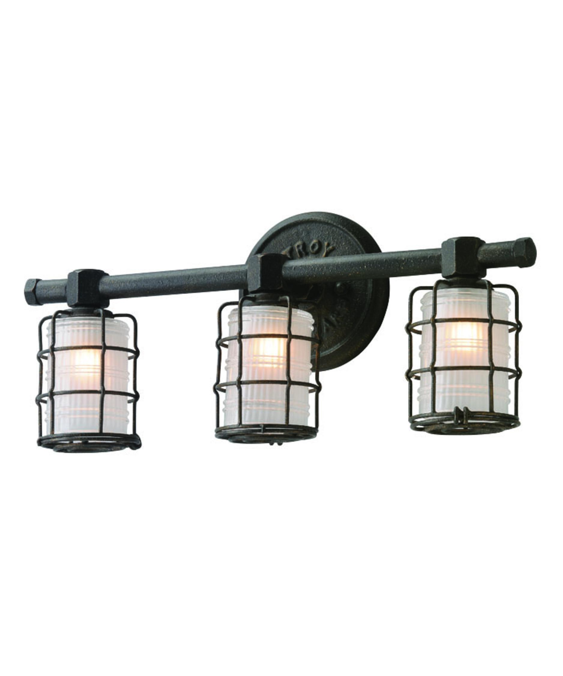 Bathroom Vanity Lights On Sale troy lighting b3843 mercantile 20 inch wide bath vanity light