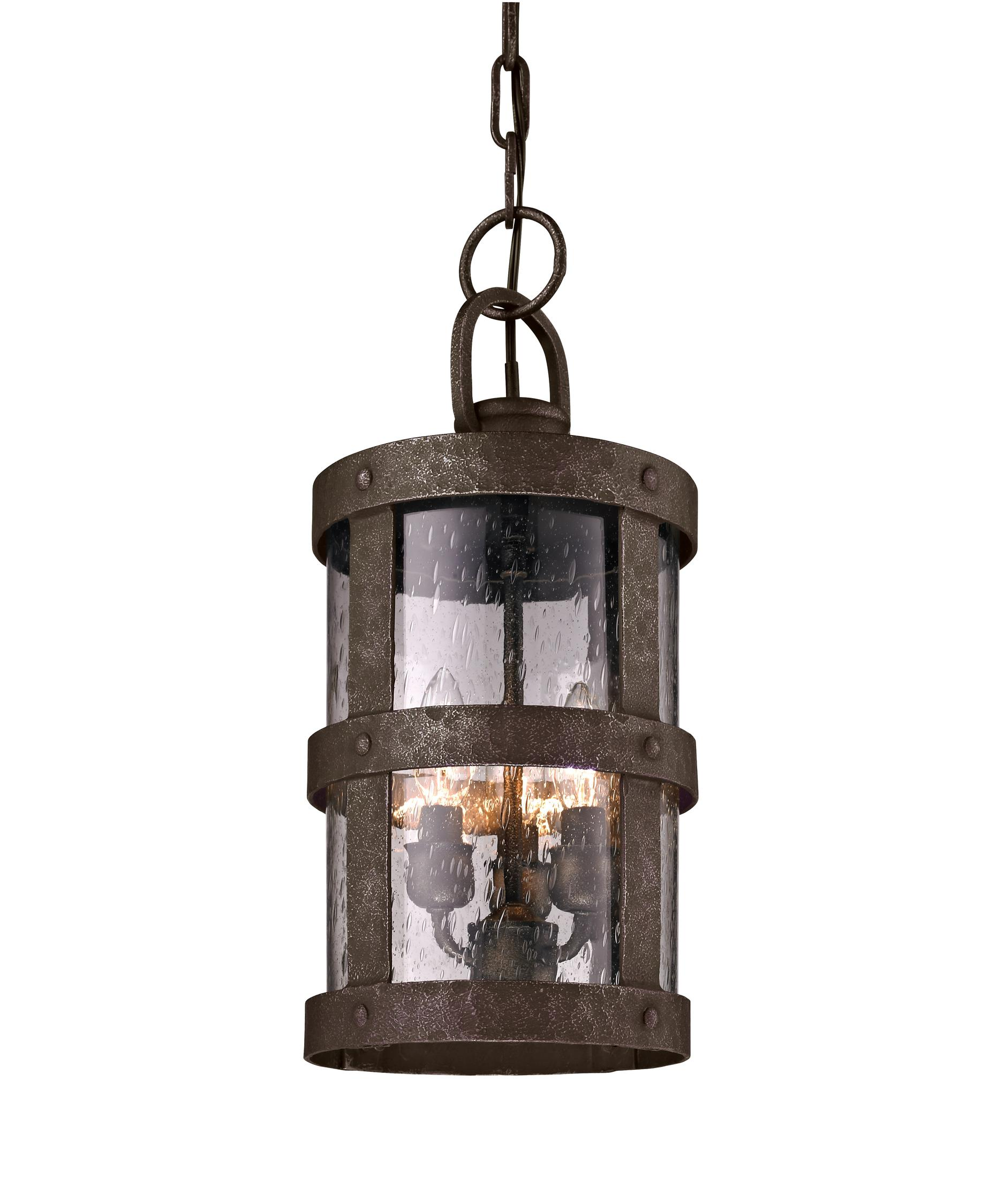 outdoor hanging lighting fixtures. shown in barbosa bronze finish and clear seeded glass outdoor hanging lighting fixtures r