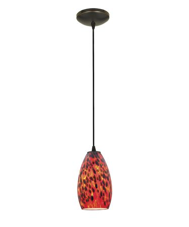 Shown in Oil Rubbed Bronze finish and Carnival glass