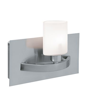 Shown in Brushed Steel finish and Opal glass